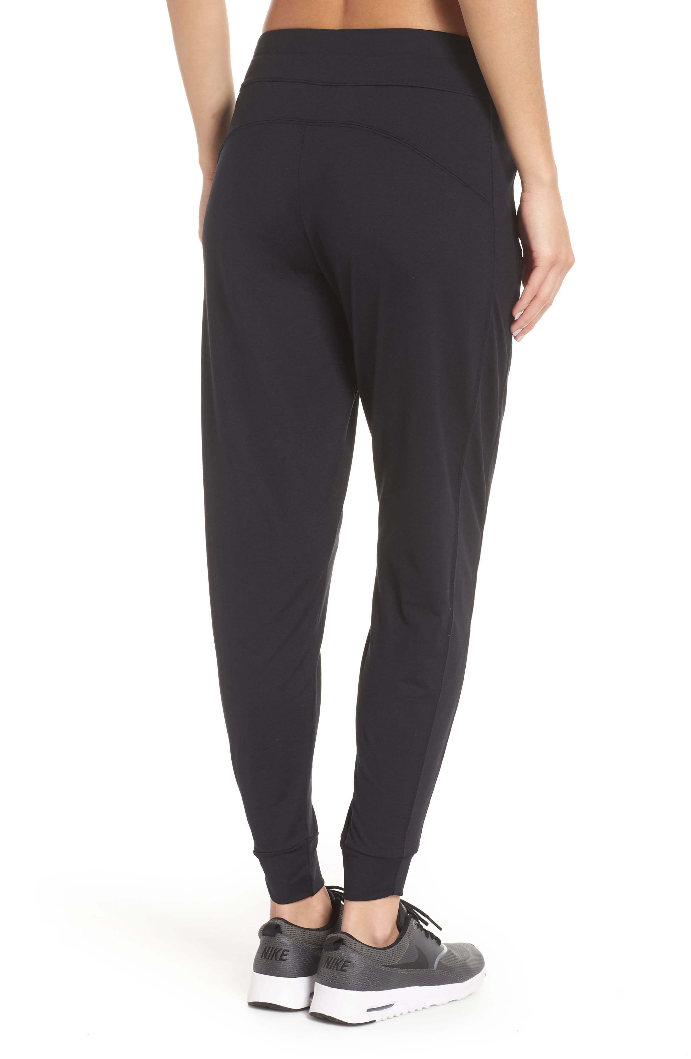 Taylor Slim Recycled Knit Jogger Pants,                             Alternate thumbnail 2, color,                             BLACK