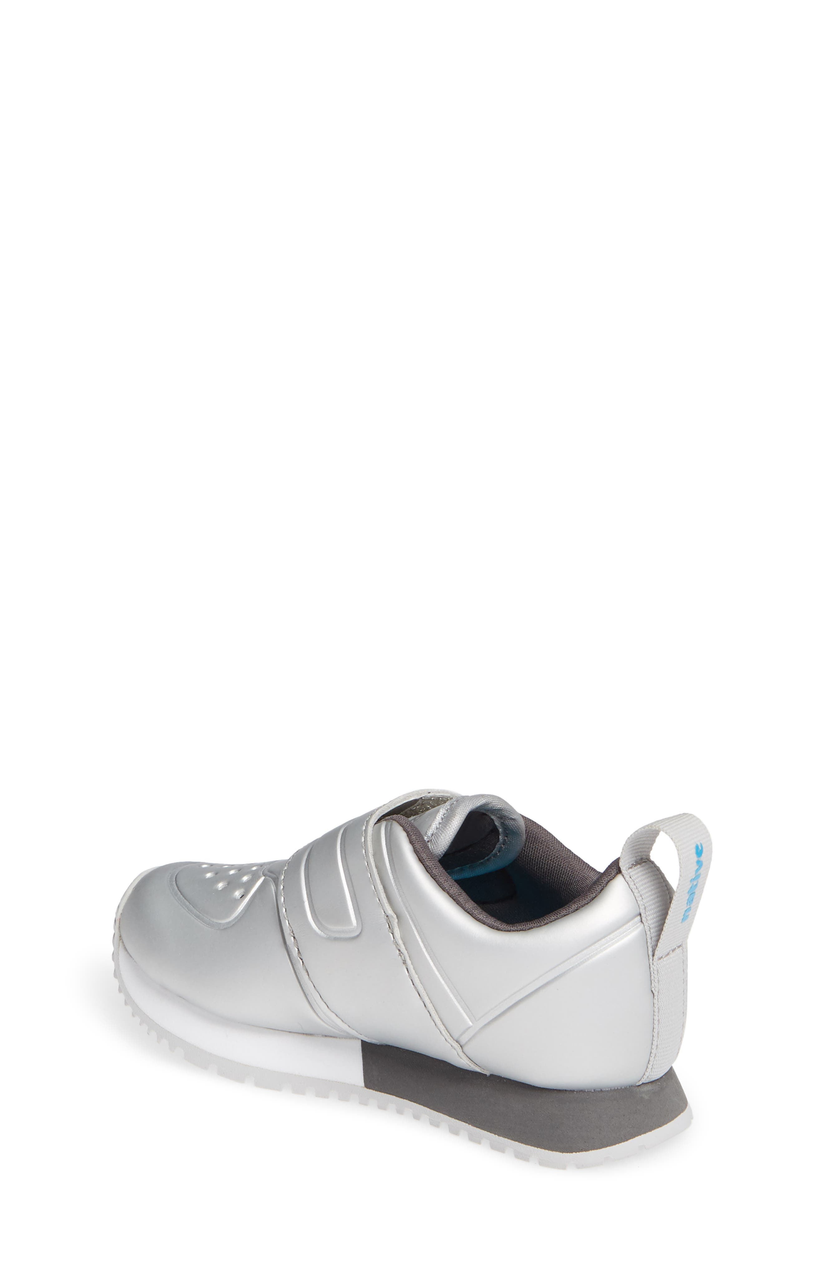 Cornell Perforated Metallic Sneaker,                             Alternate thumbnail 2, color,                             SILVER/ WHITE/ DUBLIN GREY