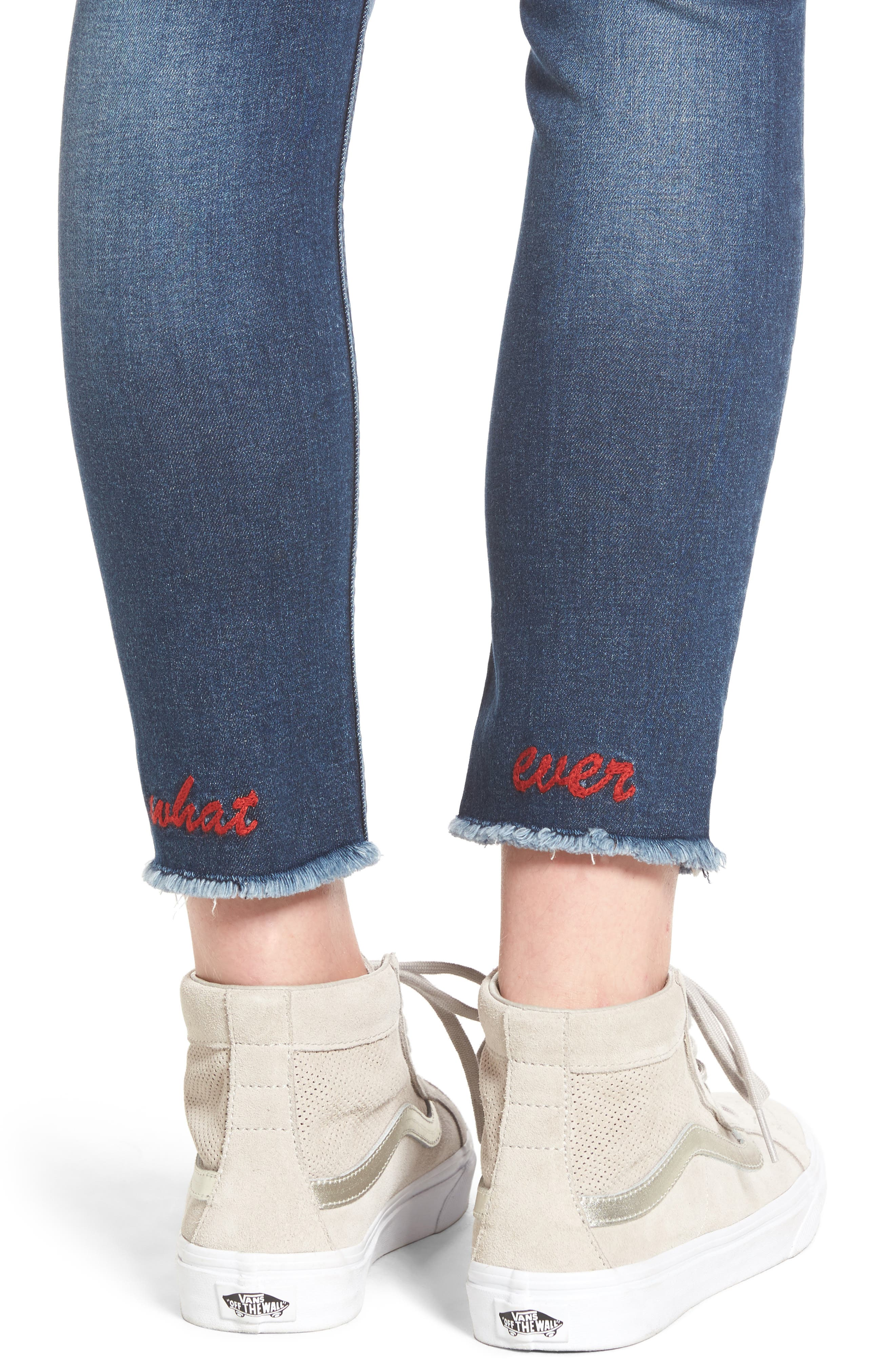 Whatever Distressed Ankle Skinny Jeans,                             Alternate thumbnail 4, color,                             426