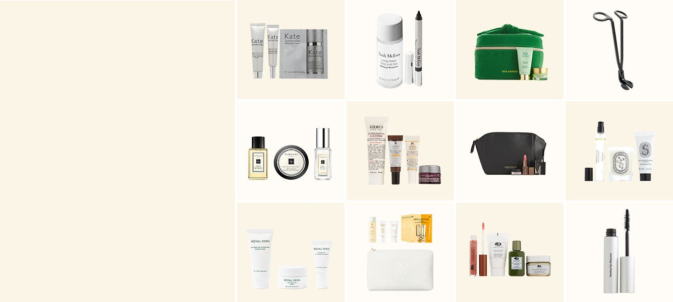 Free beauty gifts with purchase.