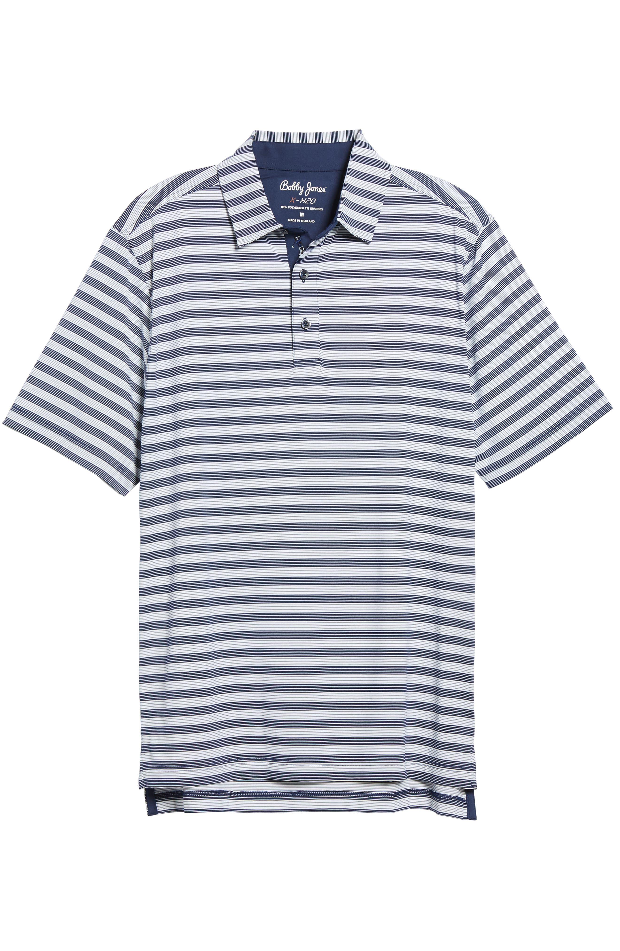 XH2O Del Mar Stripe Jersey Polo,                             Alternate thumbnail 6, color,                             400