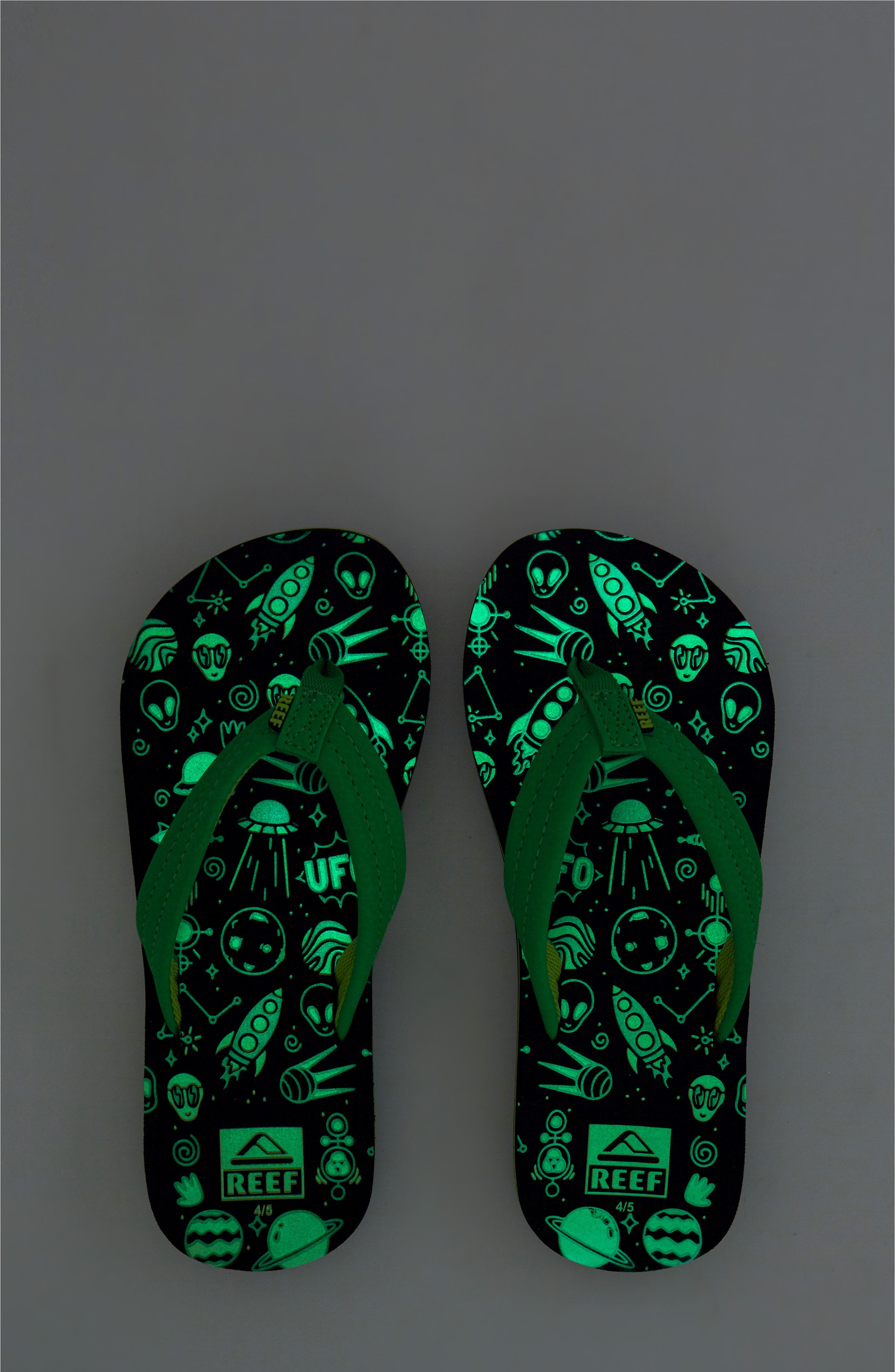 Ahi Glow in the Dark Flip Flop,                             Alternate thumbnail 7, color,                             GREEN