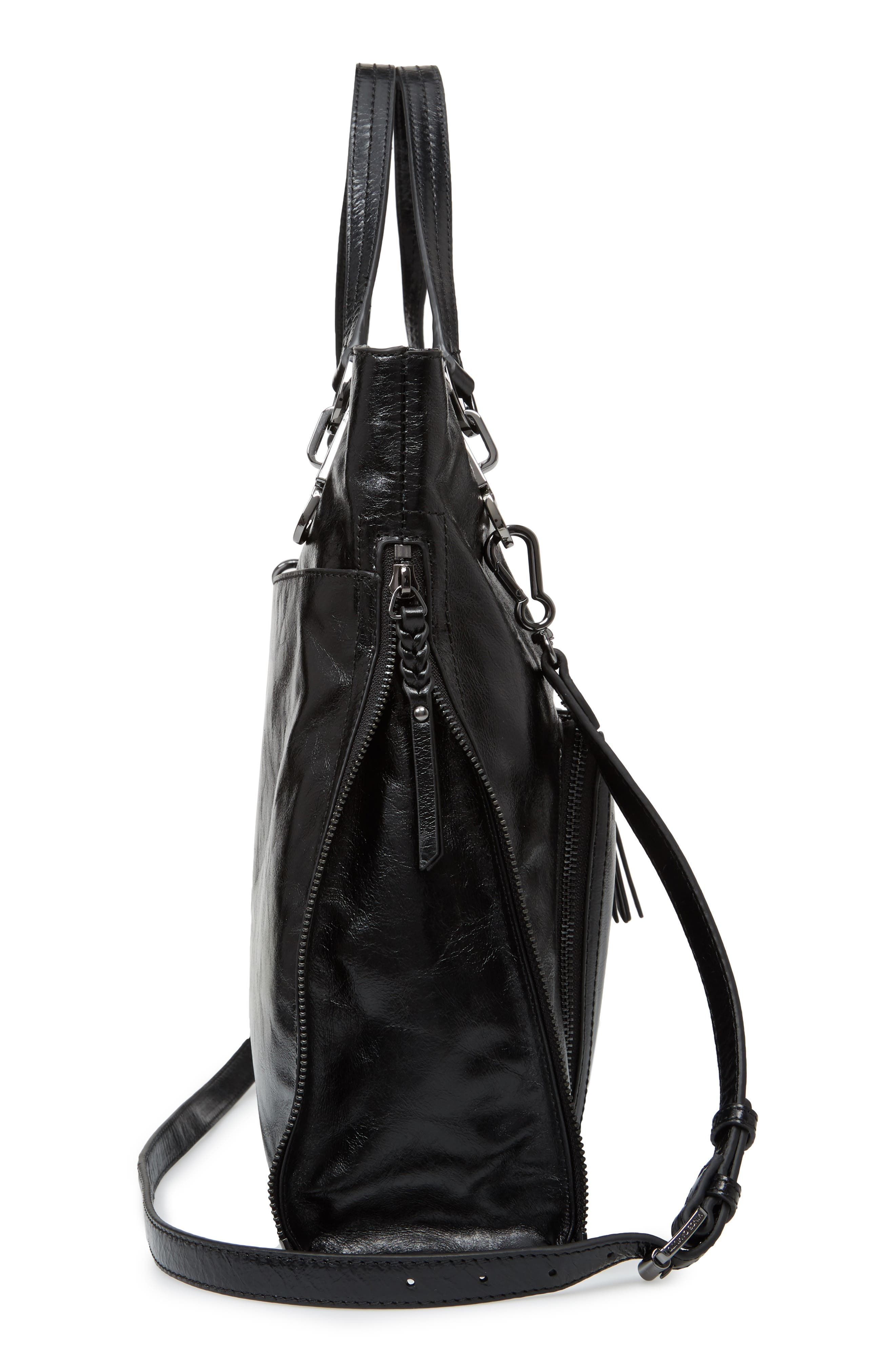VINCE CAMUTO,                             Narra Leather Tote,                             Alternate thumbnail 5, color,                             002