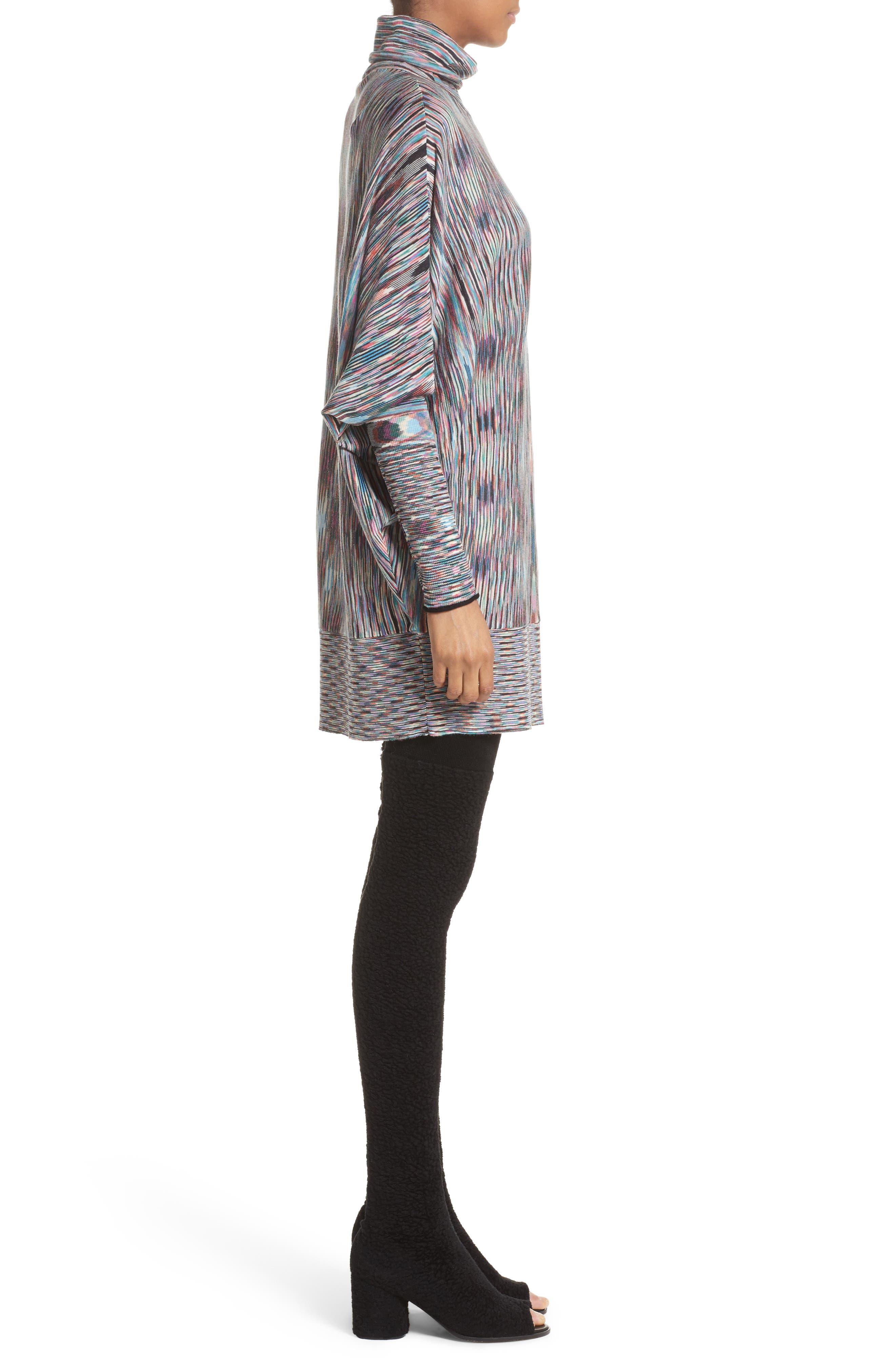 Space Dye Knit Dress,                             Alternate thumbnail 3, color,                             001