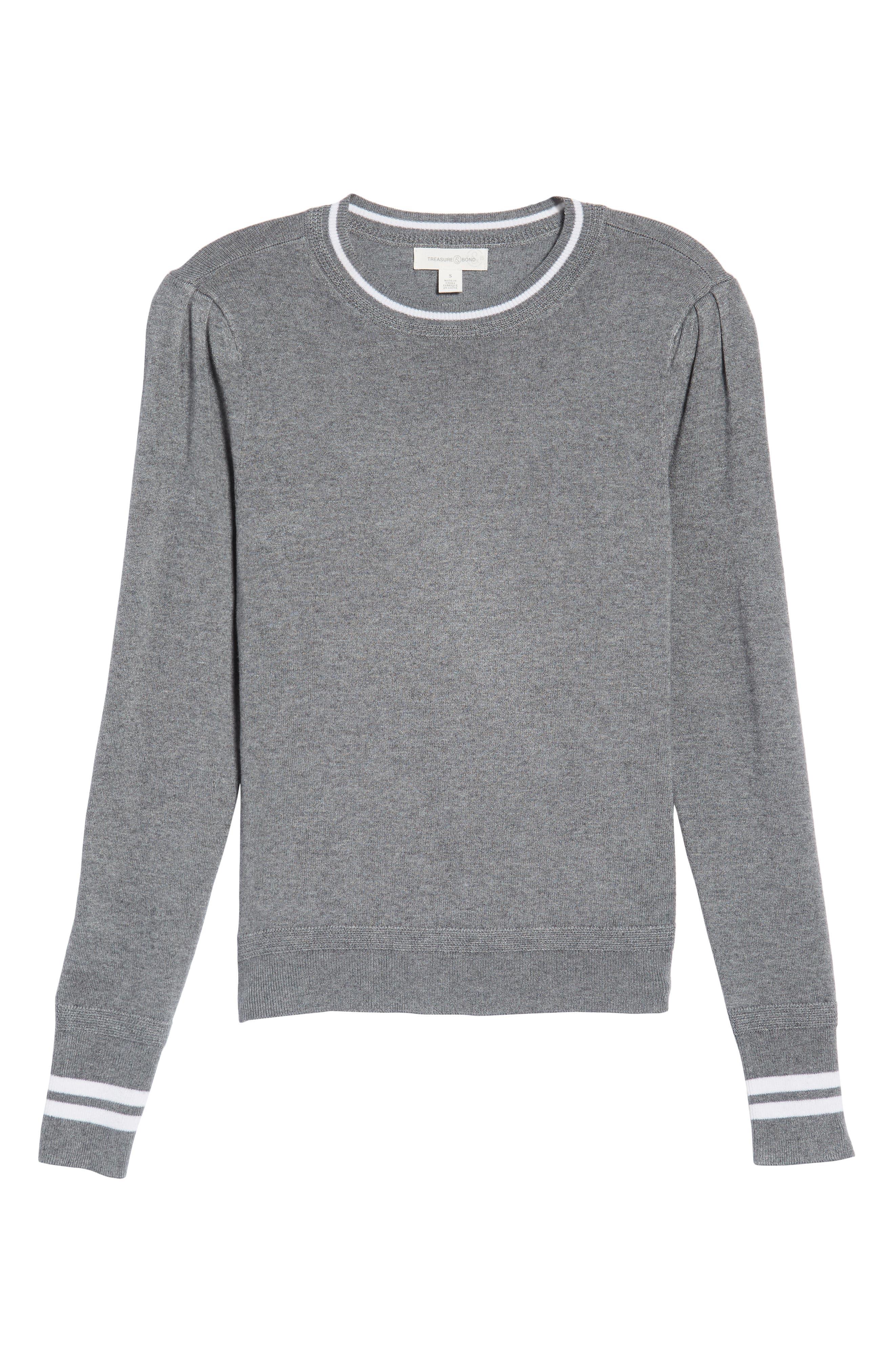 Sporty Stripe Sweater,                             Alternate thumbnail 7, color,                             021