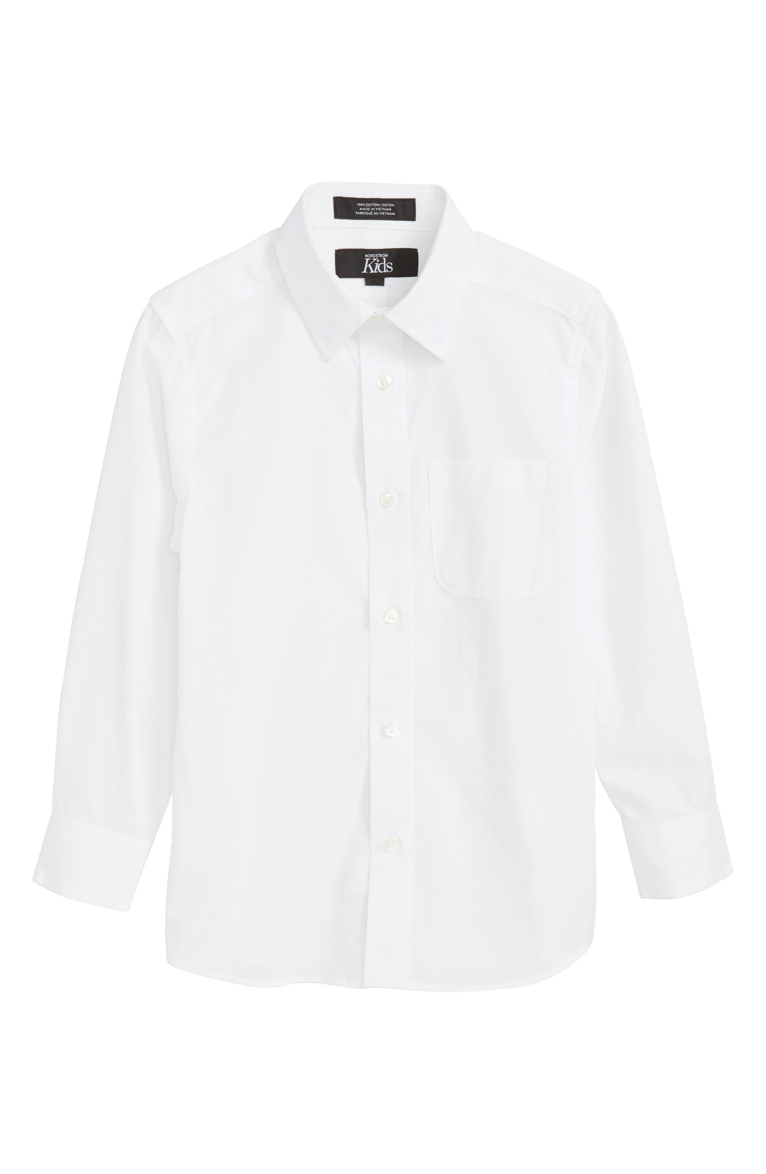 White Dobby Sport Shirt,                             Main thumbnail 1, color,                             100