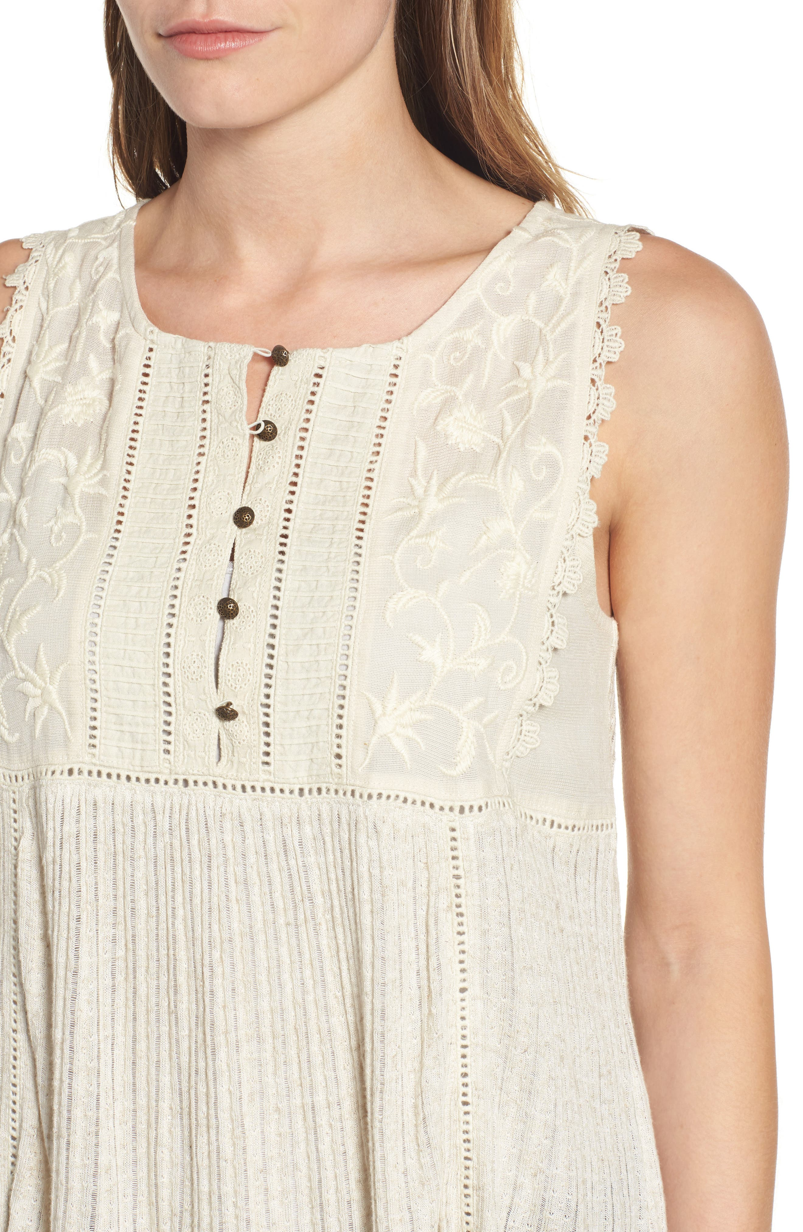 Embroidered Bib Tank,                             Alternate thumbnail 4, color,                             100