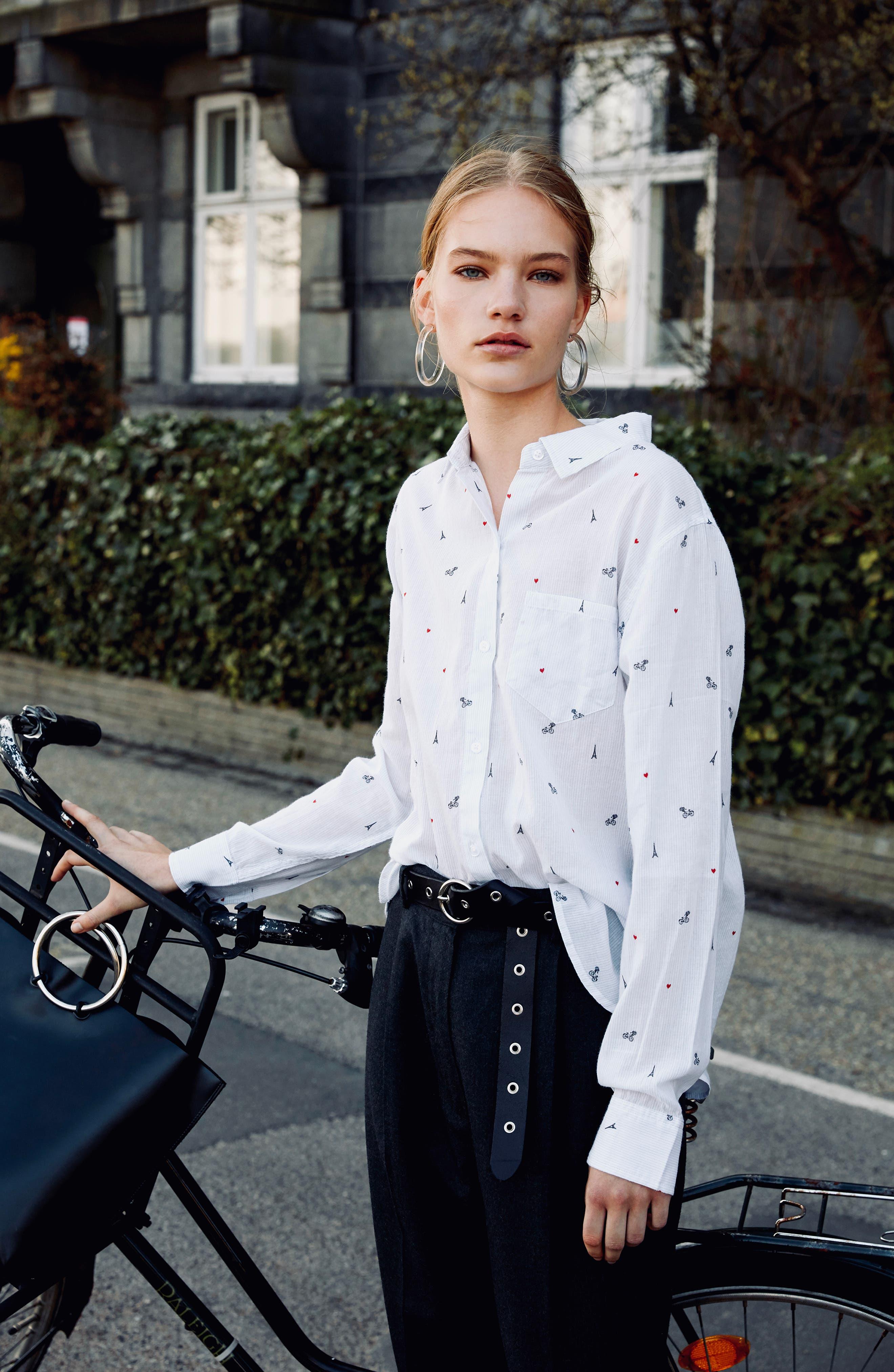 Taylor Star Stripe Shirt,                             Alternate thumbnail 8, color,                             LITTLE PARIS