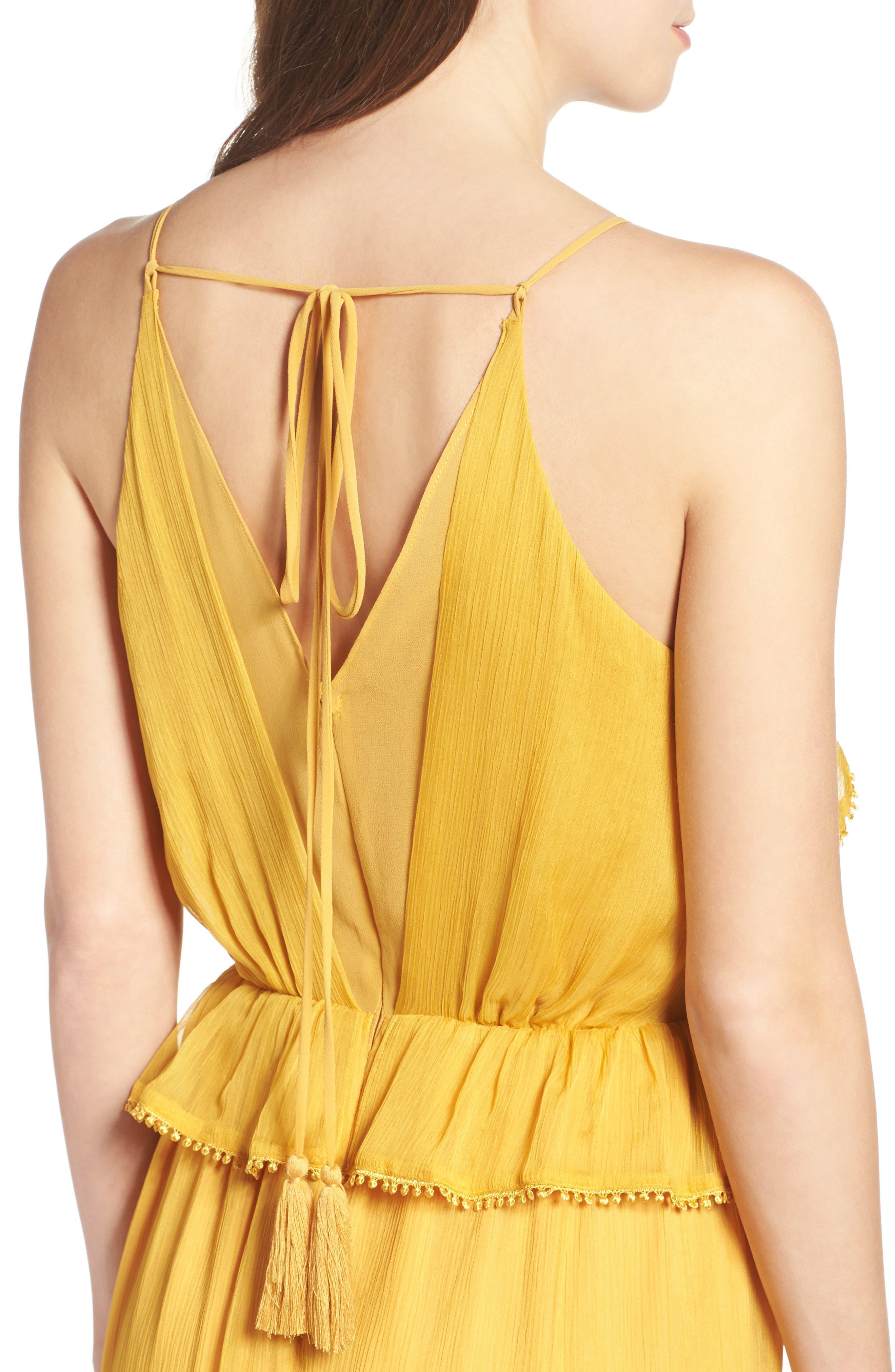Tiered Chiffon Maxi Dress,                             Alternate thumbnail 4, color,                             700