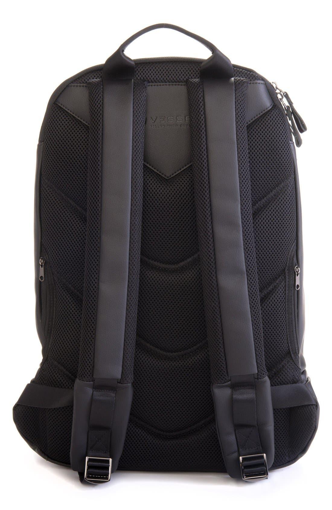 'Signature' Backpack,                             Alternate thumbnail 3, color,                             PEBBLED BLACK