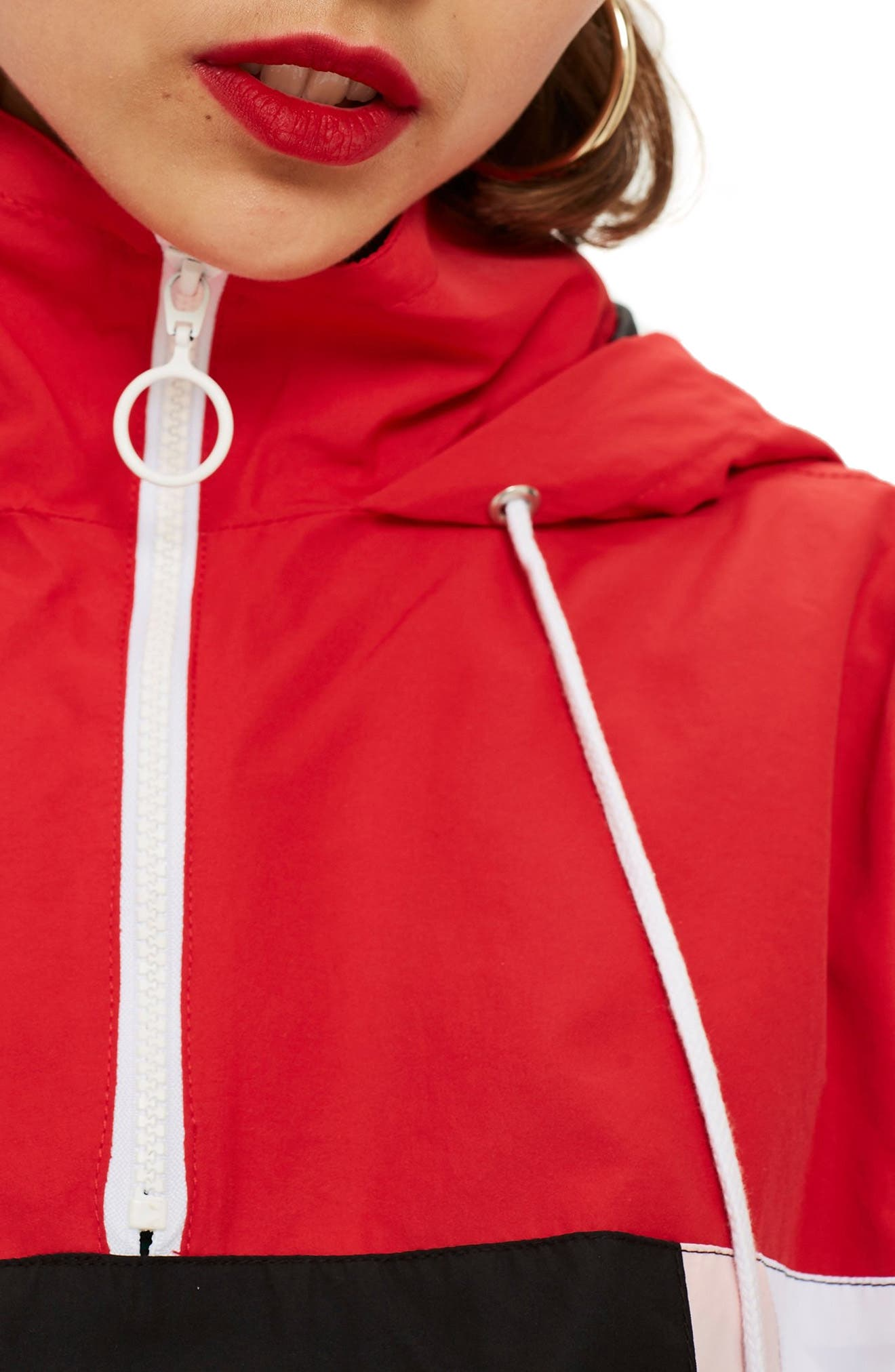 Overhead Colorblock Windbreaker Jacket,                             Alternate thumbnail 3, color,                             001