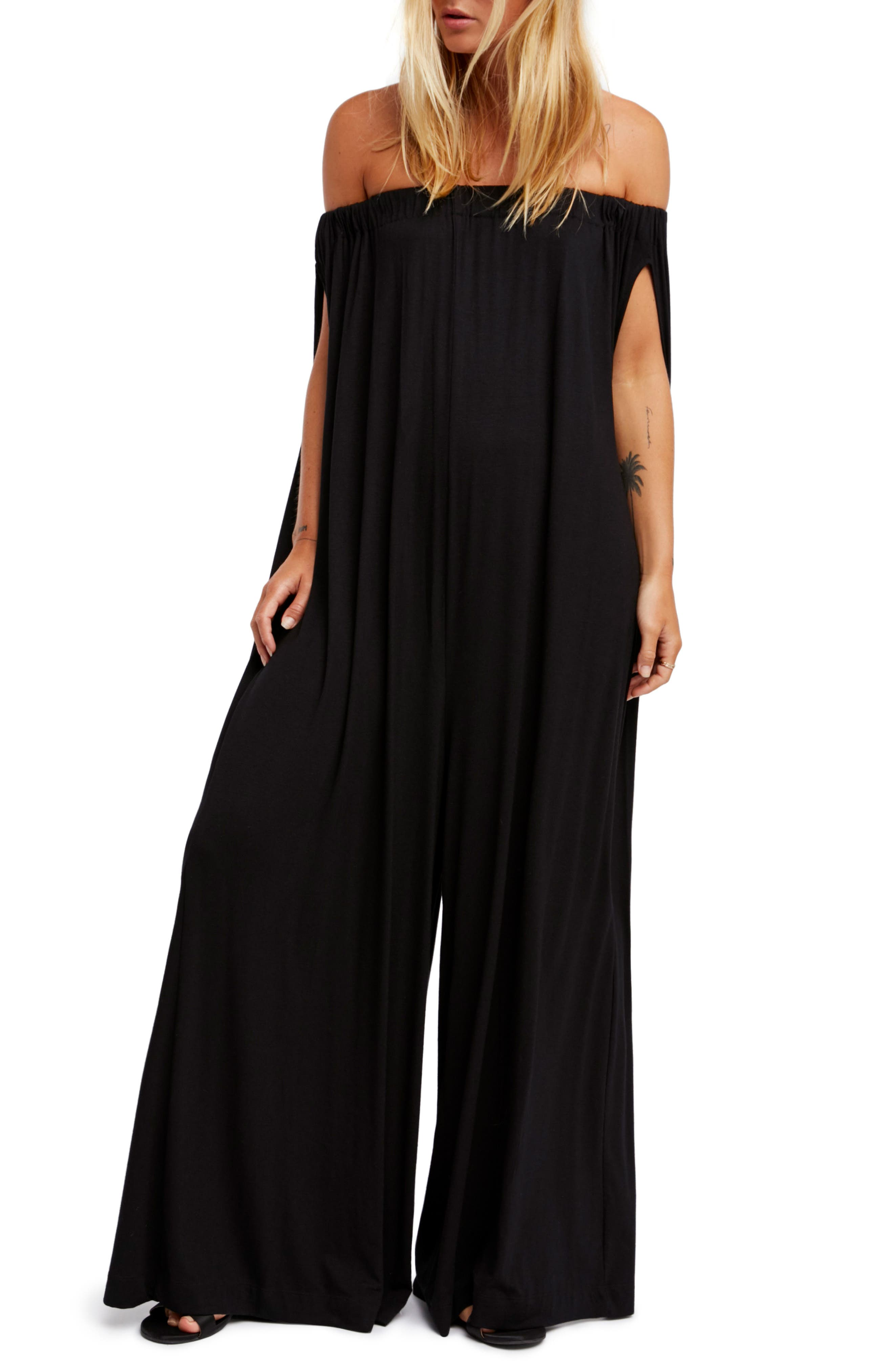 Endless Summer by Free People Mexicali Jumpsuit,                             Main thumbnail 1, color,                             BLACK