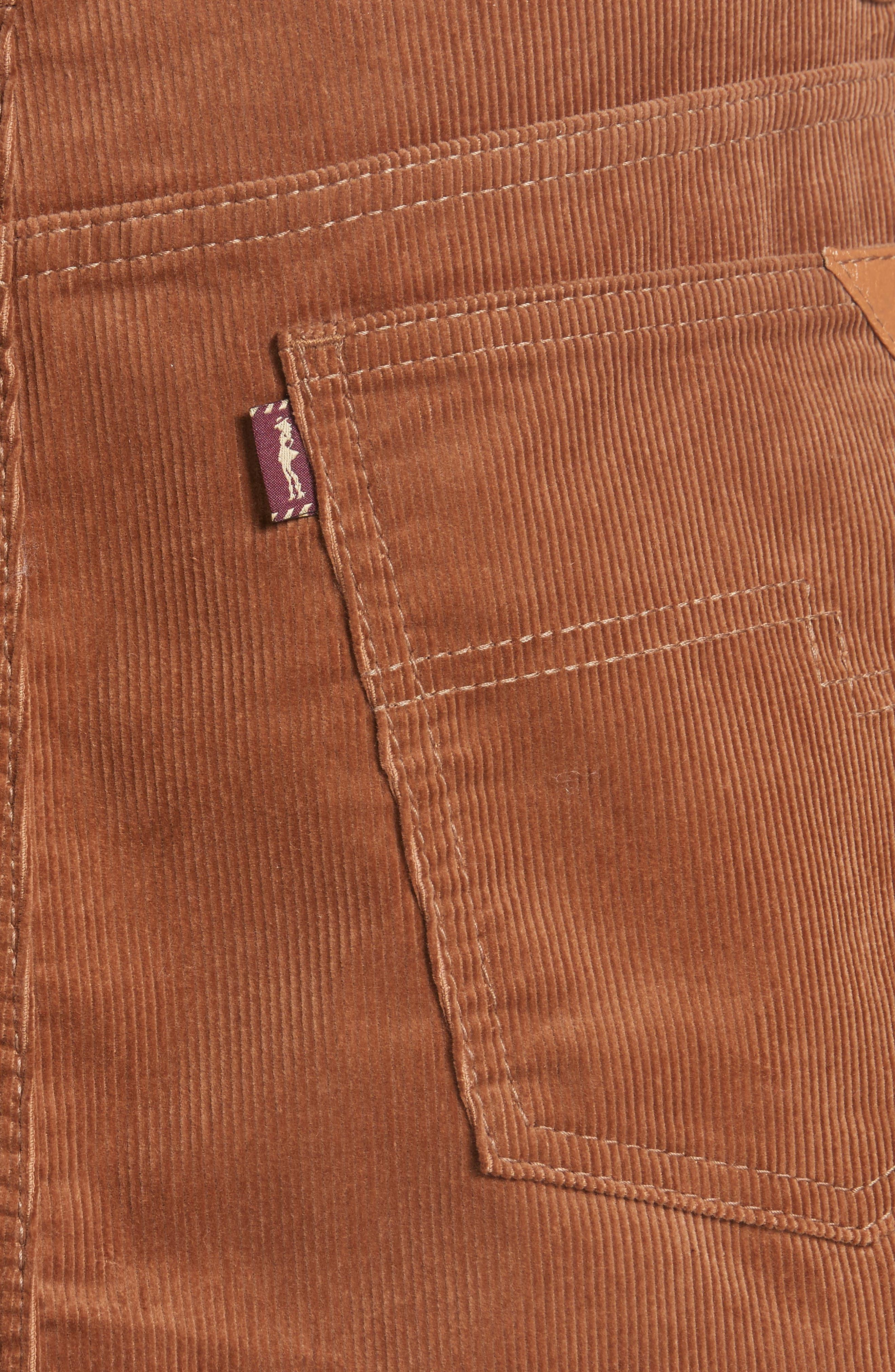 Corduroy Miniskirt,                             Alternate thumbnail 5, color,                             200