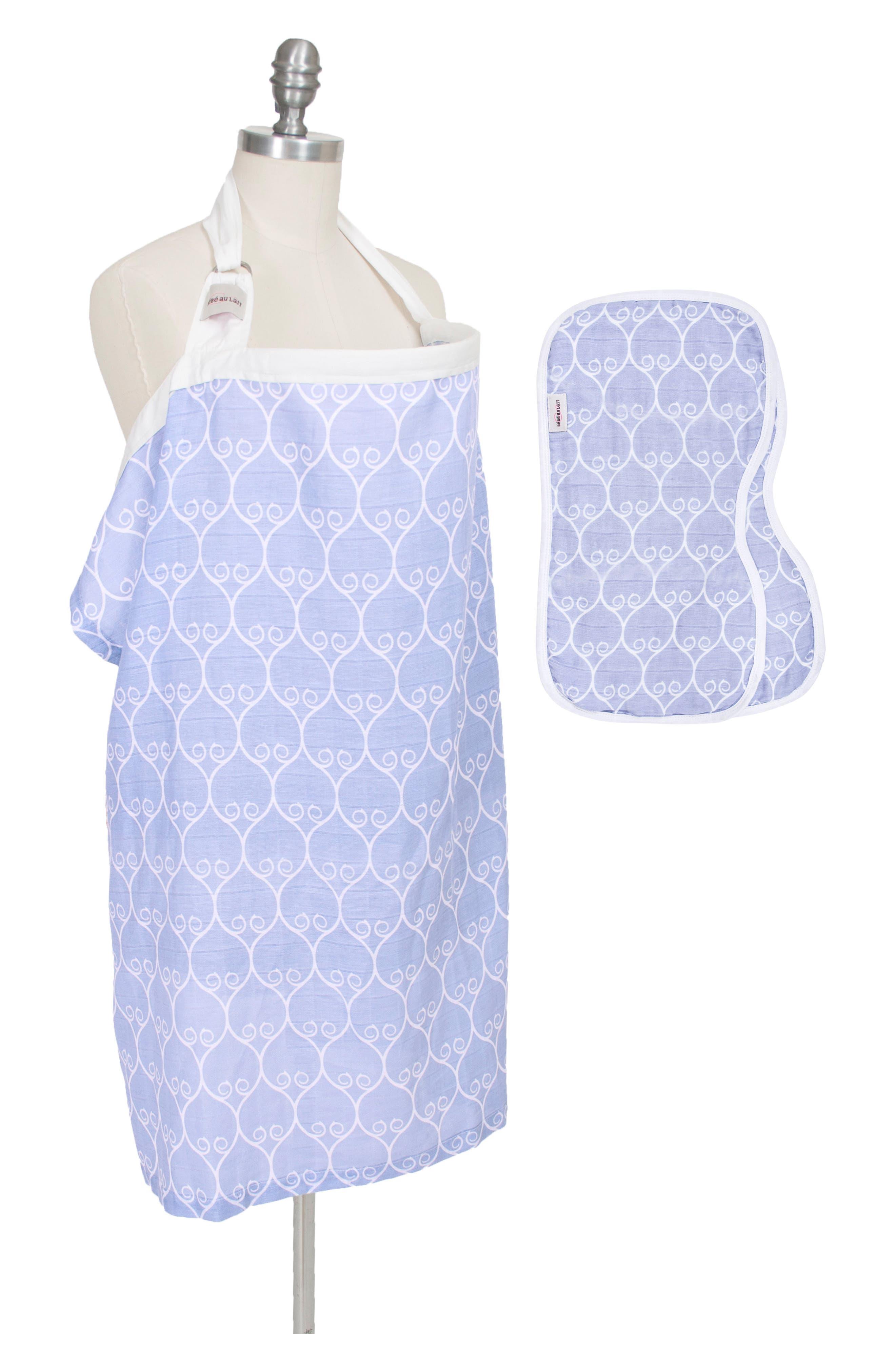 Nursing Cover & Burp Cloth Set,                             Main thumbnail 1, color,                             420