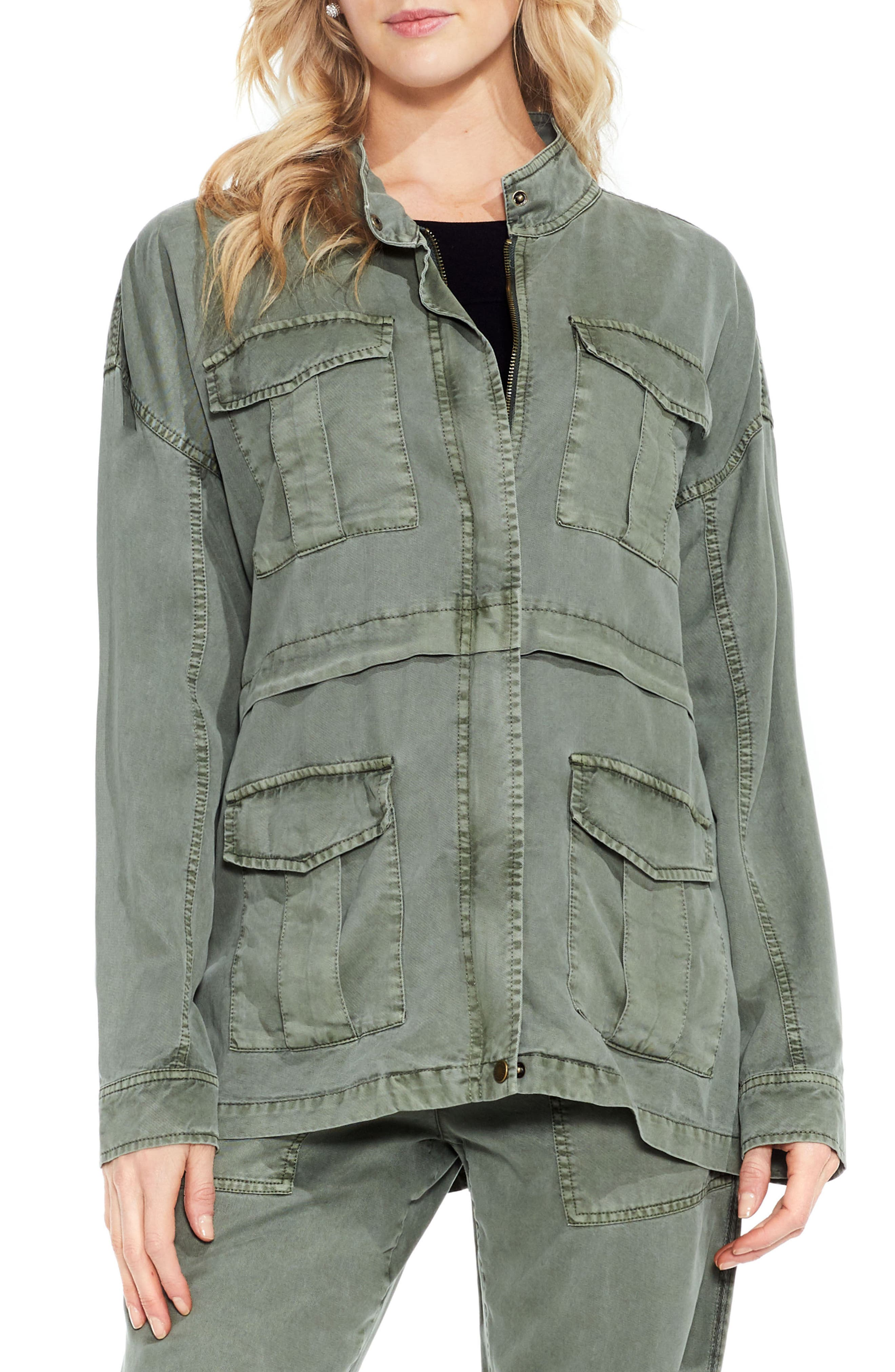 Two by Vince Camuto Twill Cargo Jacket,                             Main thumbnail 1, color,