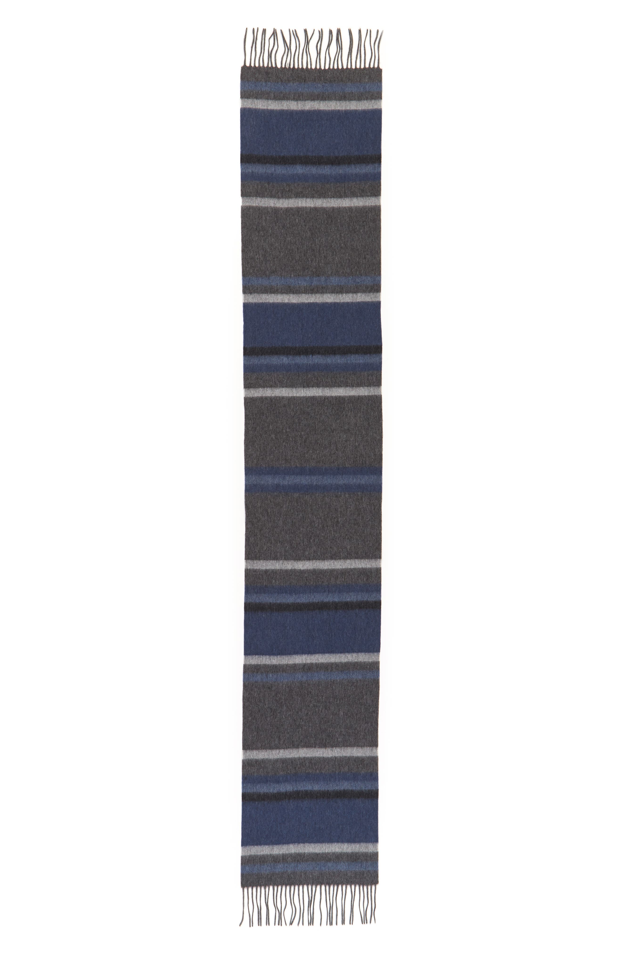 Multistripe Lambswool Scarf,                             Alternate thumbnail 2, color,                             030