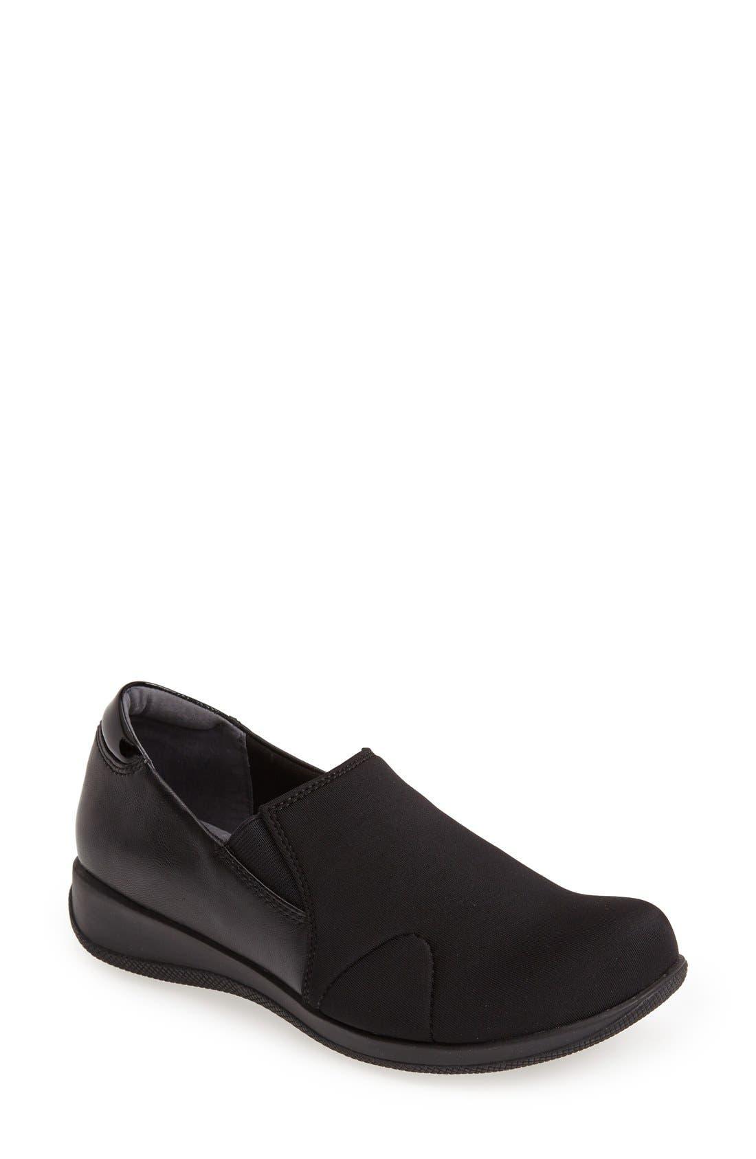 'Tilton' Slip-On,                         Main,                         color, BLACK PATENT/ BURNISH