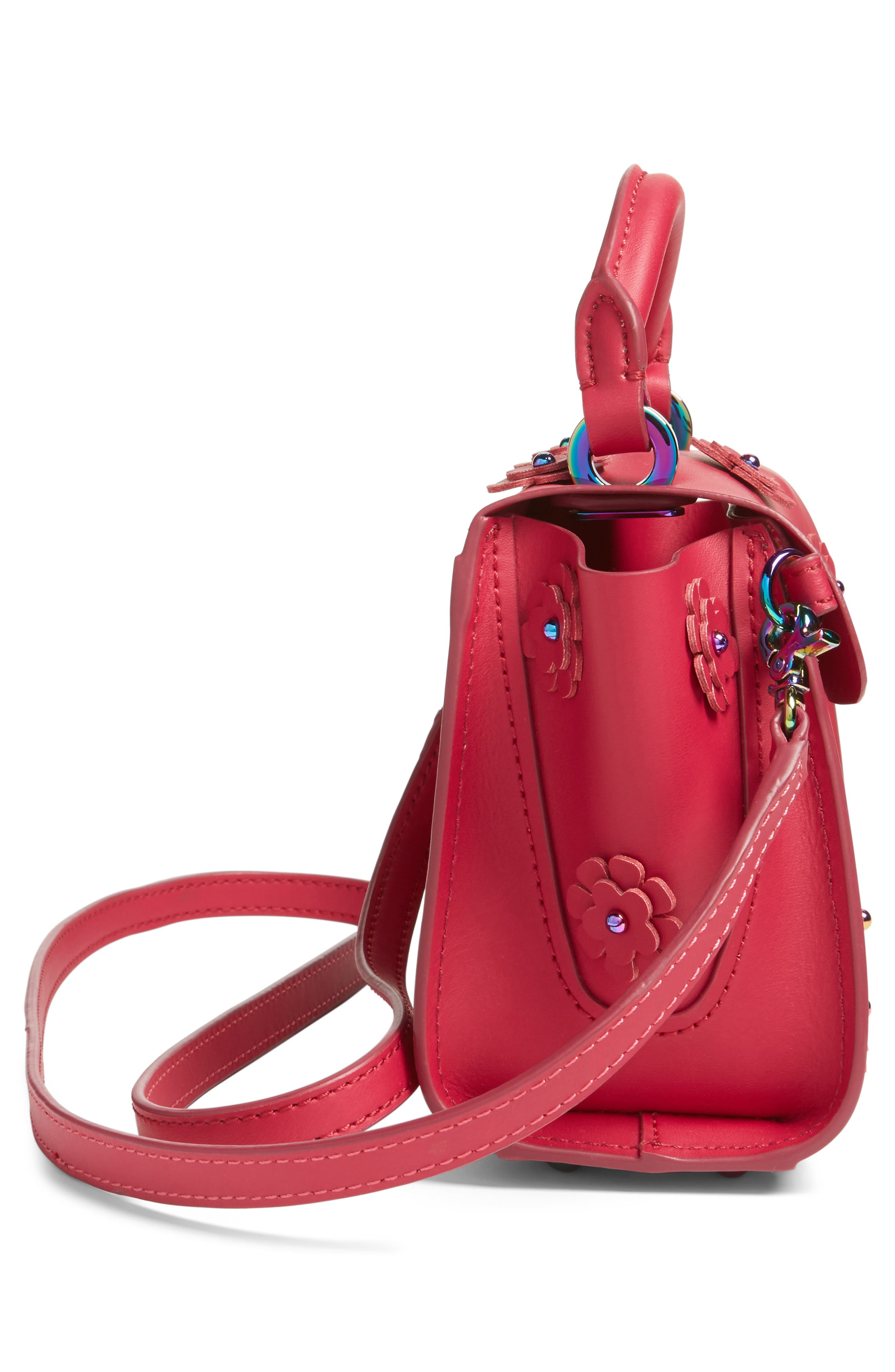 Mini Eartha Iconic Top Handle Leather Satchel,                             Alternate thumbnail 4, color,                             651