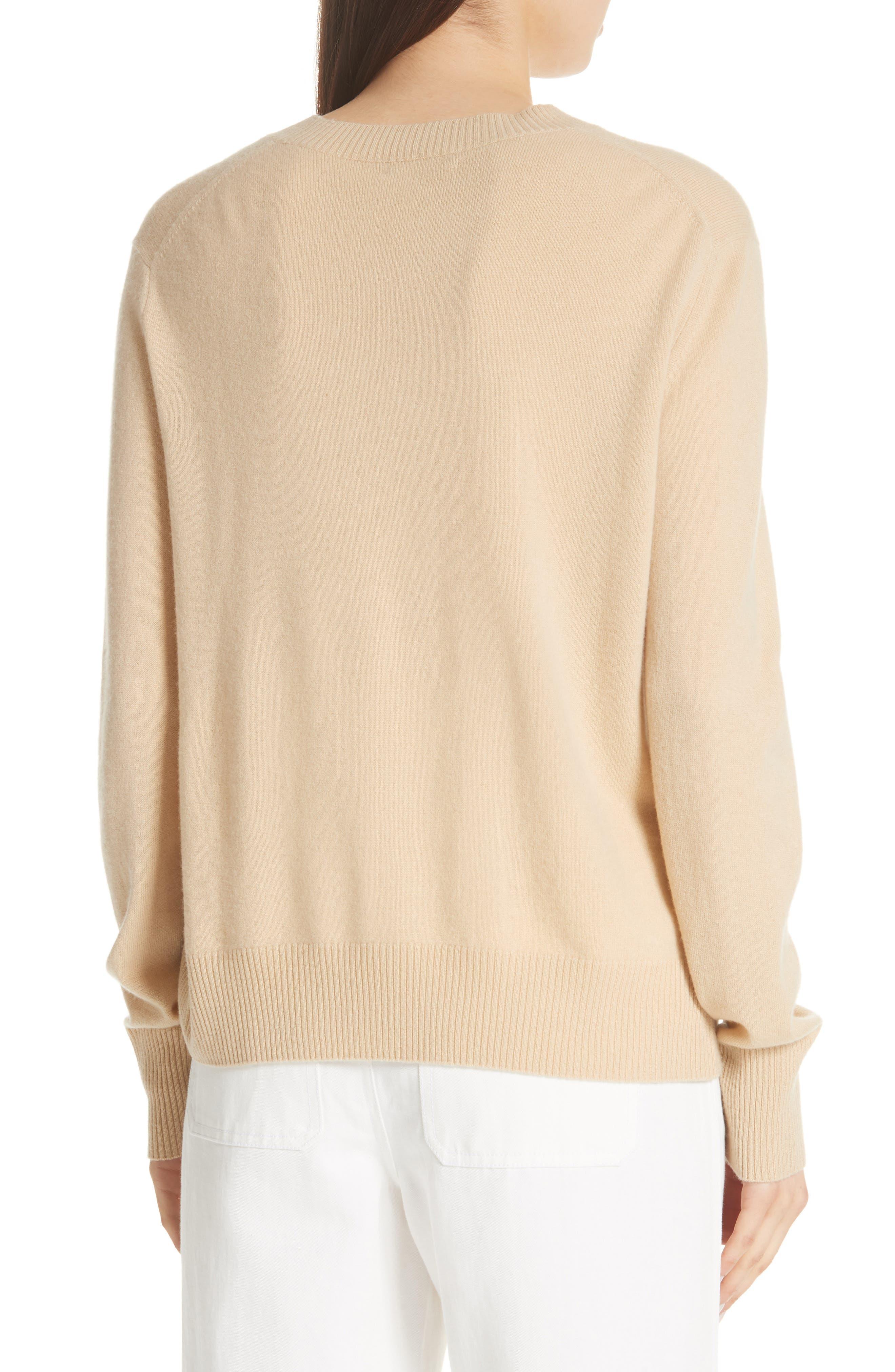 Side Cinch Cashmere Crewneck Sweater,                             Alternate thumbnail 2, color,                             293