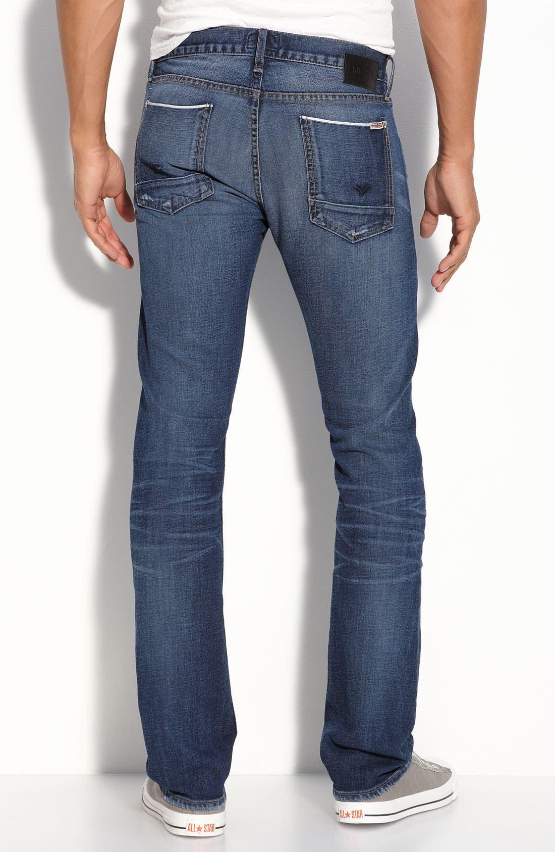 'Byron' Straight Leg Selvedge Jeans,                             Main thumbnail 1, color,                             400