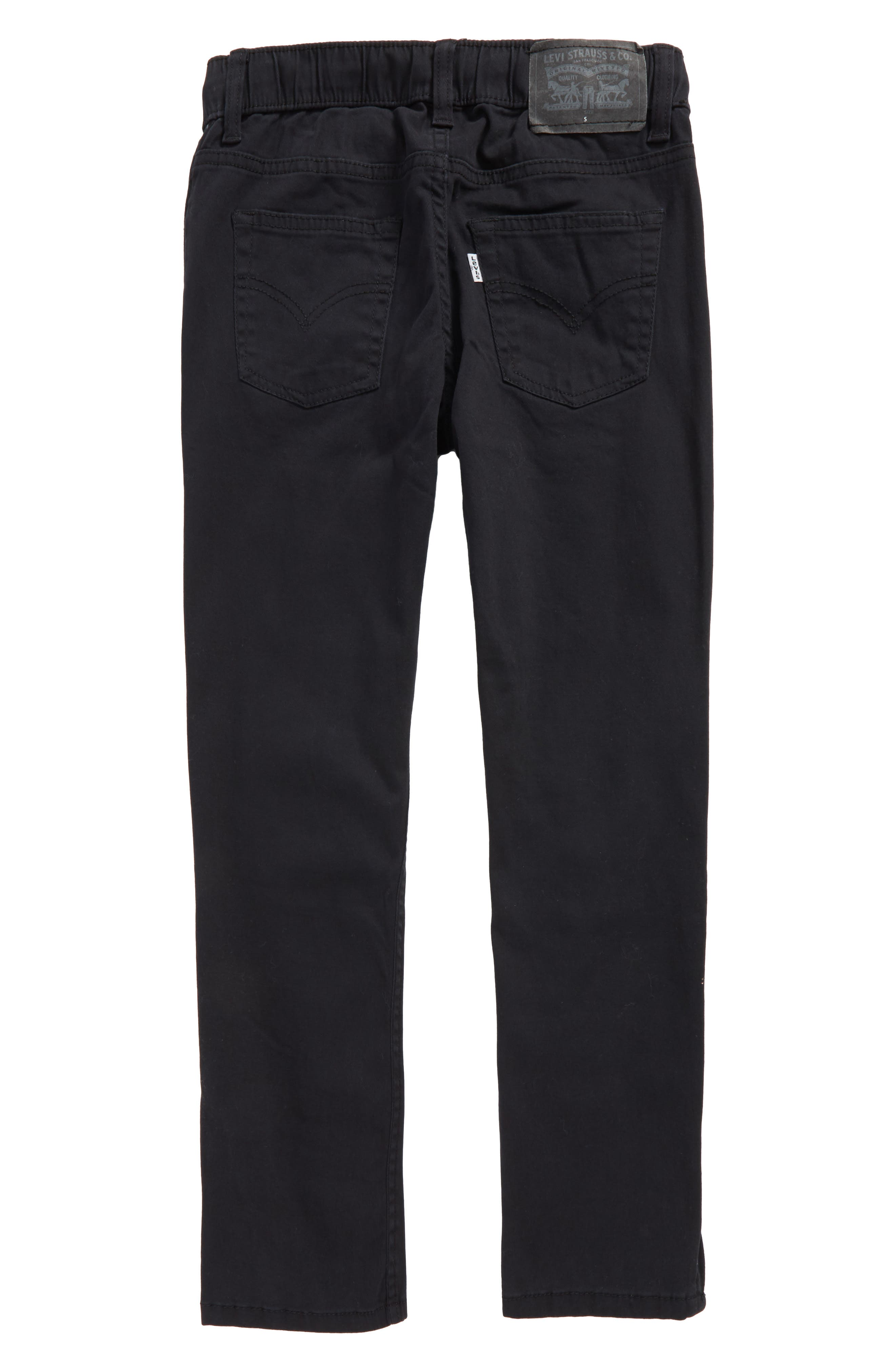 Zip Cuff Pull-On Pants,                             Alternate thumbnail 2, color,                             001