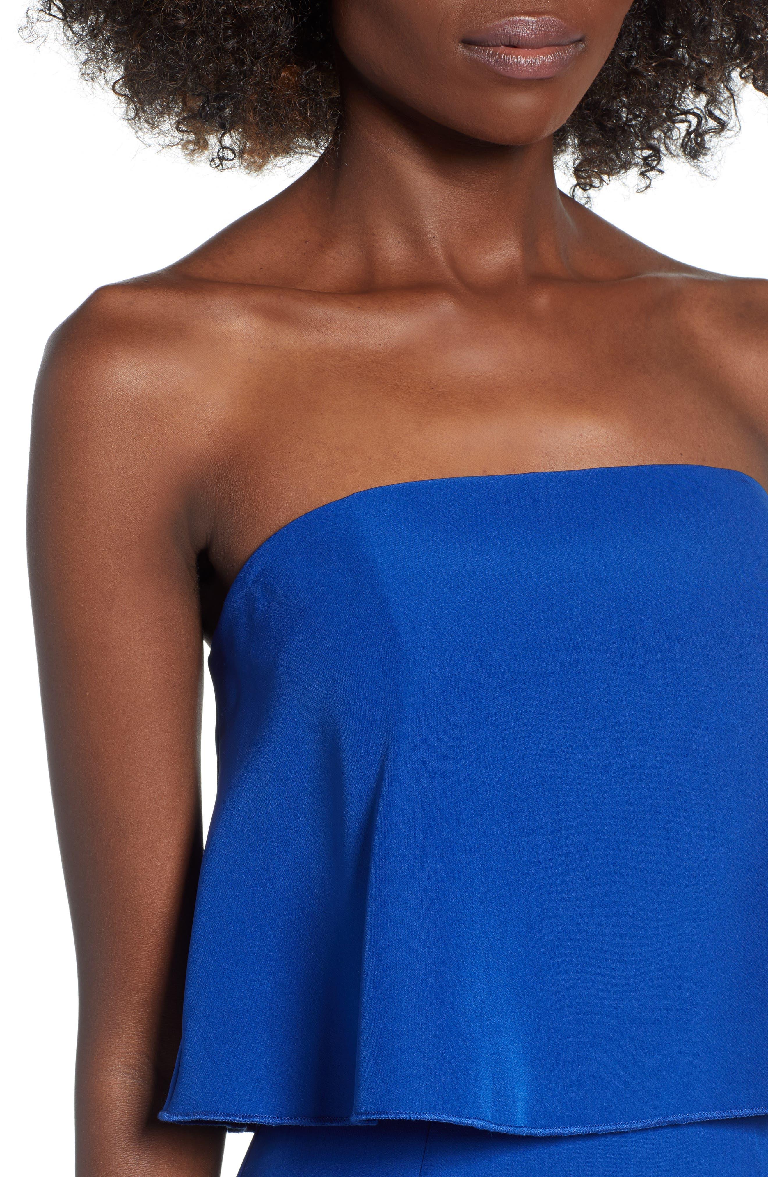 Popover Jumpsuit,                             Alternate thumbnail 4, color,                             BLUE MAZARINE