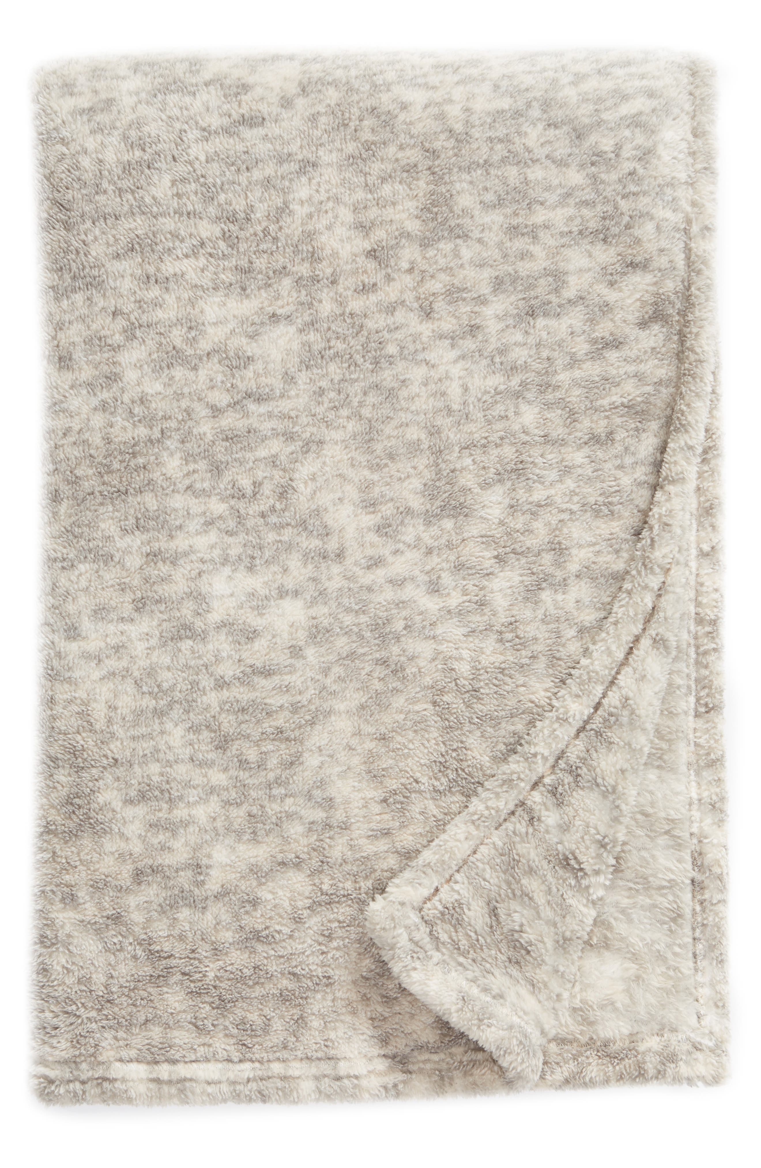 Heathered Throw Blanket,                             Main thumbnail 1, color,                             GREY