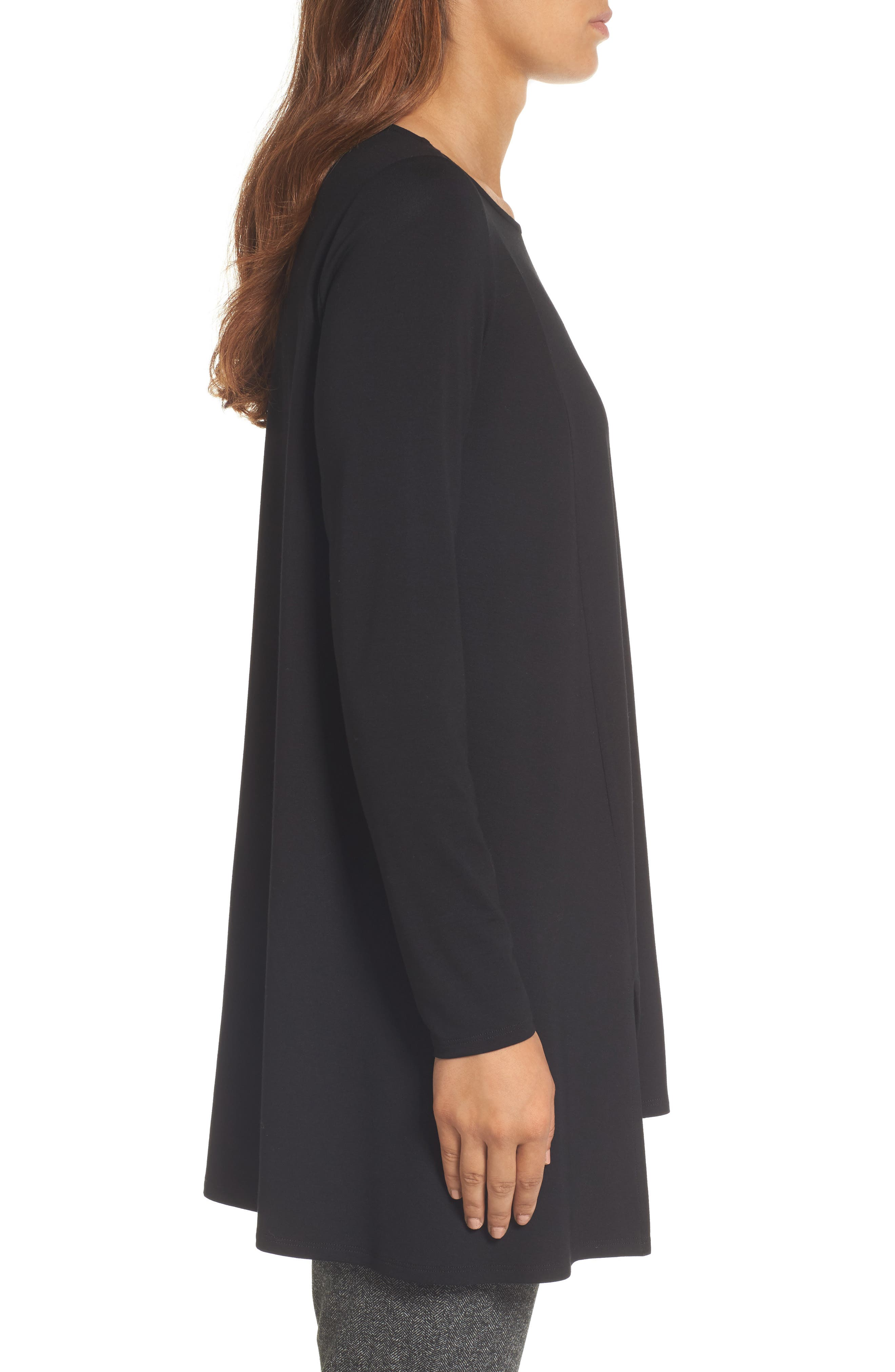 Scoop Neck Tunic,                             Alternate thumbnail 3, color,                             001