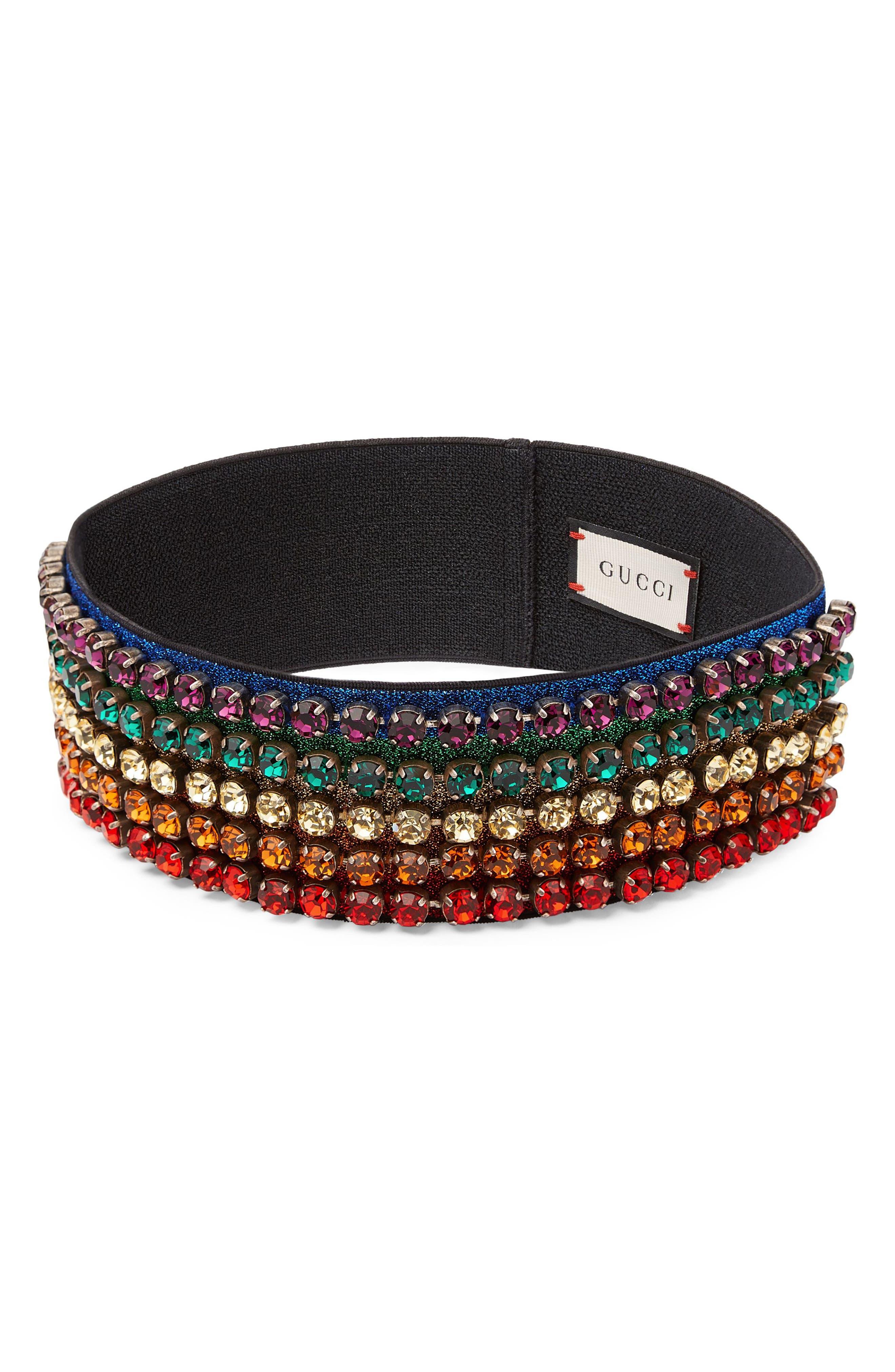 Webby Rainbow Crystal Headband,                             Main thumbnail 2, color,