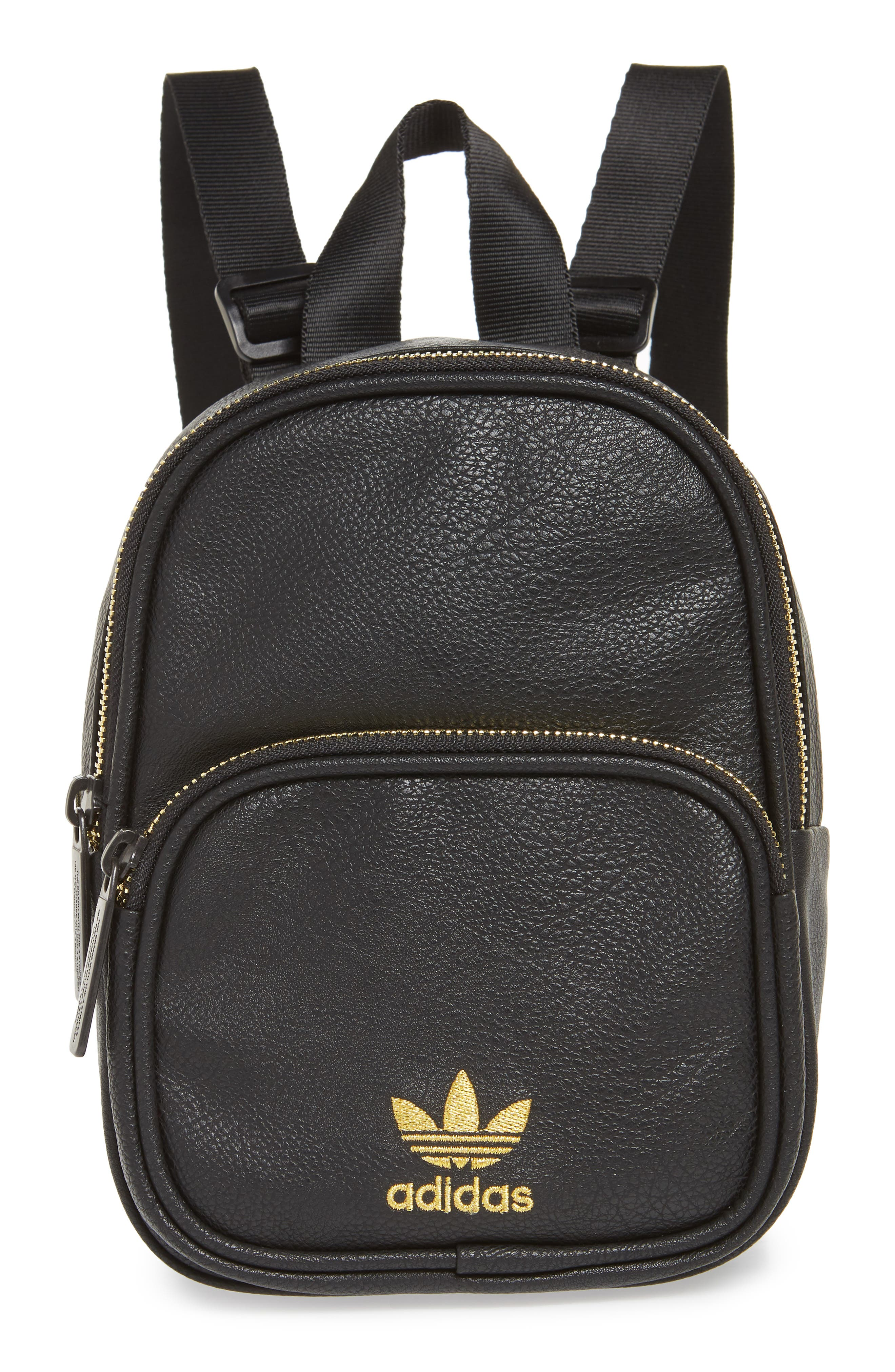 Adidas Originals Mini Faux Leather Backpack - Black