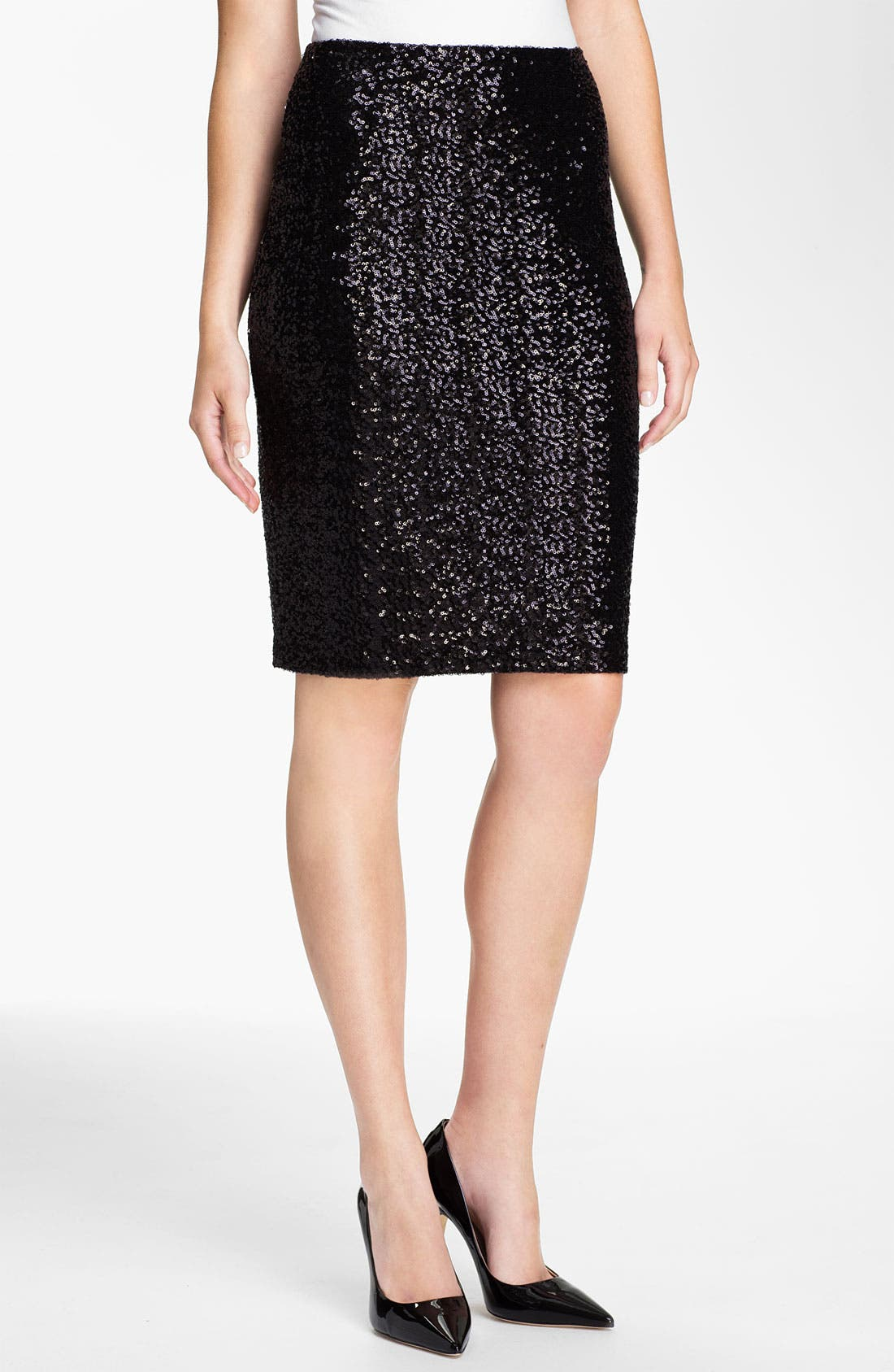 Sequin Skirt,                             Main thumbnail 1, color,                             001