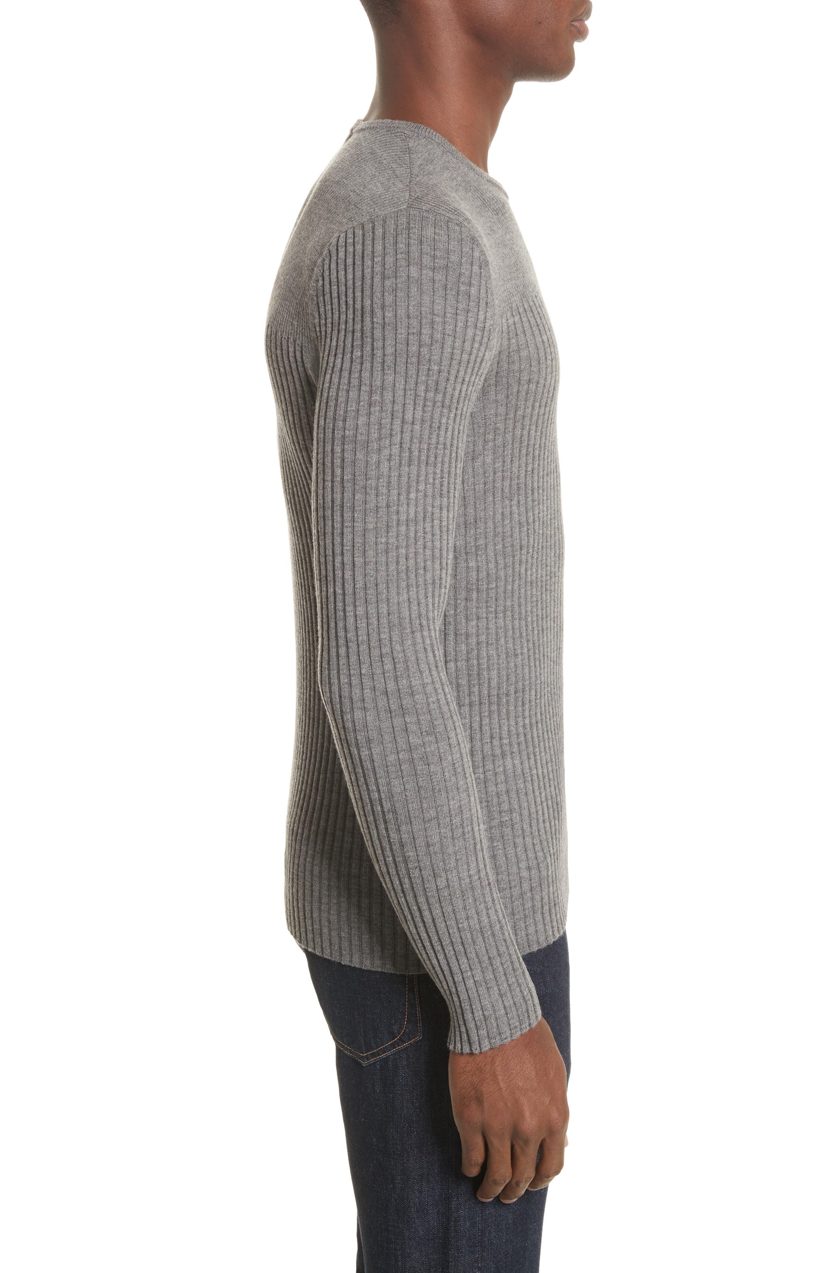 Merino Wool Sweater,                             Alternate thumbnail 3, color,                             030