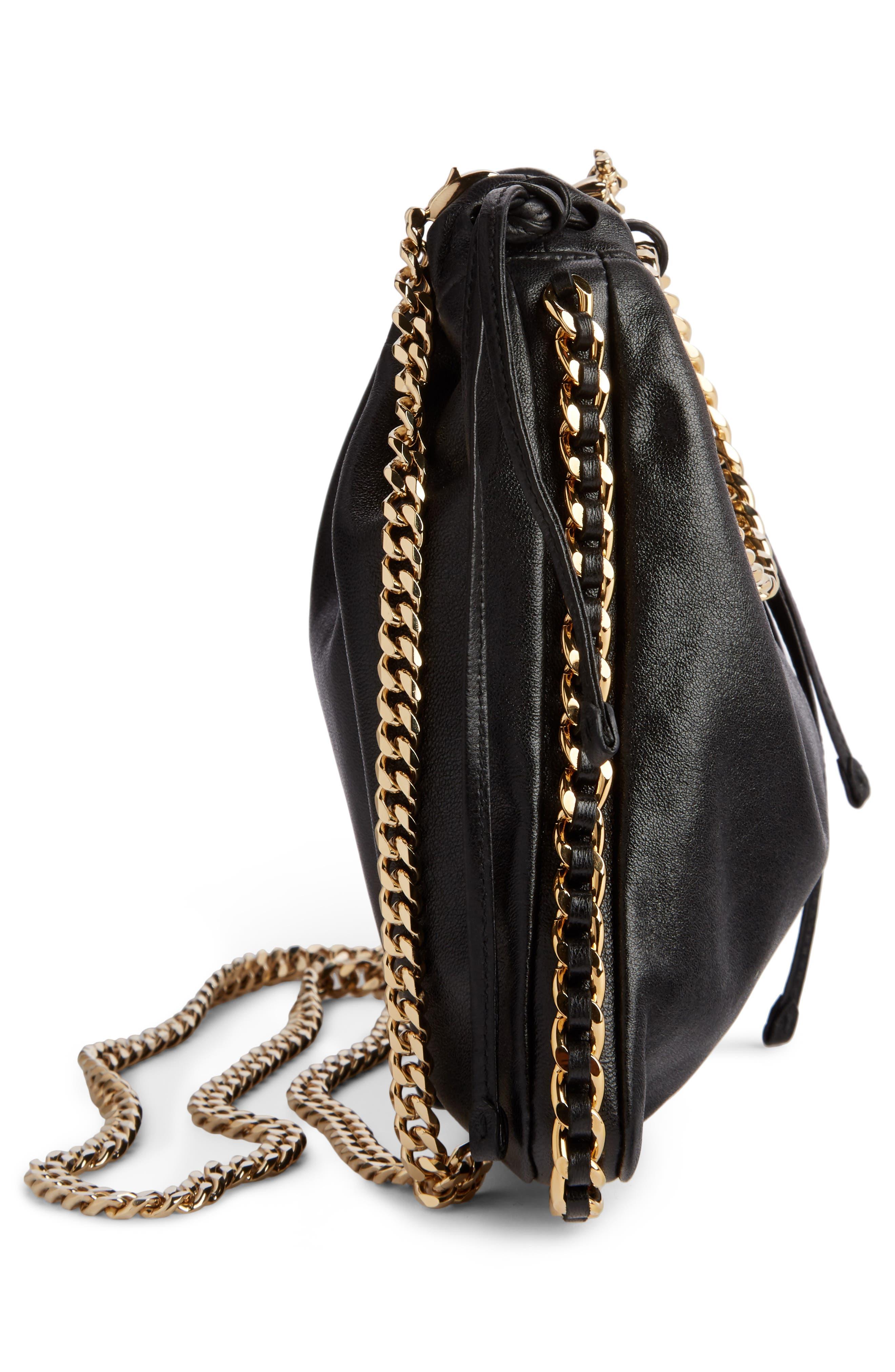 Leather Bracelet Backpack,                             Alternate thumbnail 4, color,                             NOIR