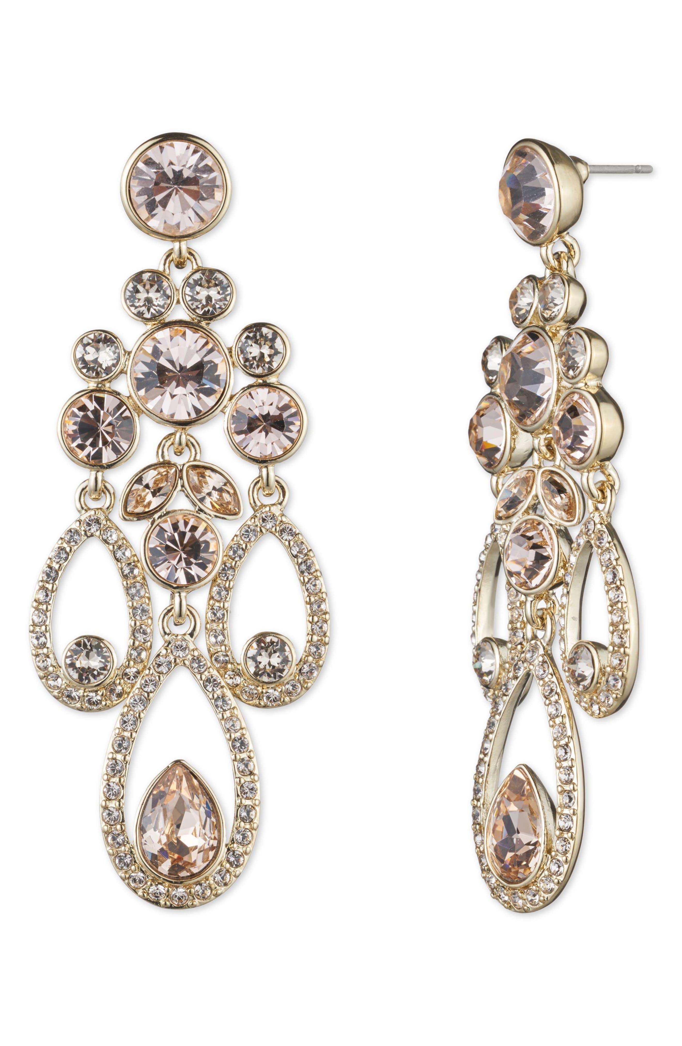 Drama Chandelier Crystal Earrings,                             Main thumbnail 1, color,                             710