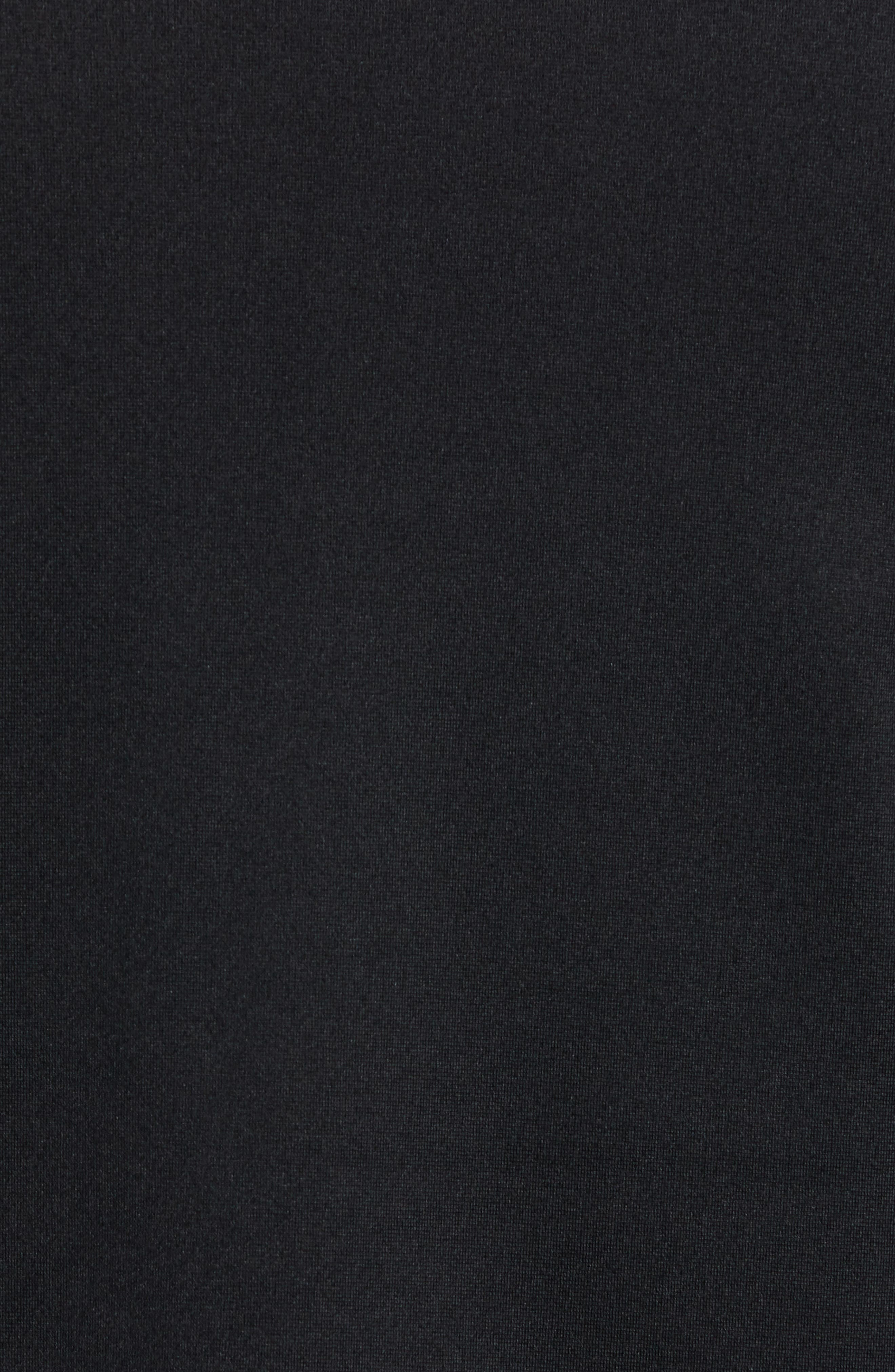 Knit Zip Jacket,                             Alternate thumbnail 6, color,                             BLACK