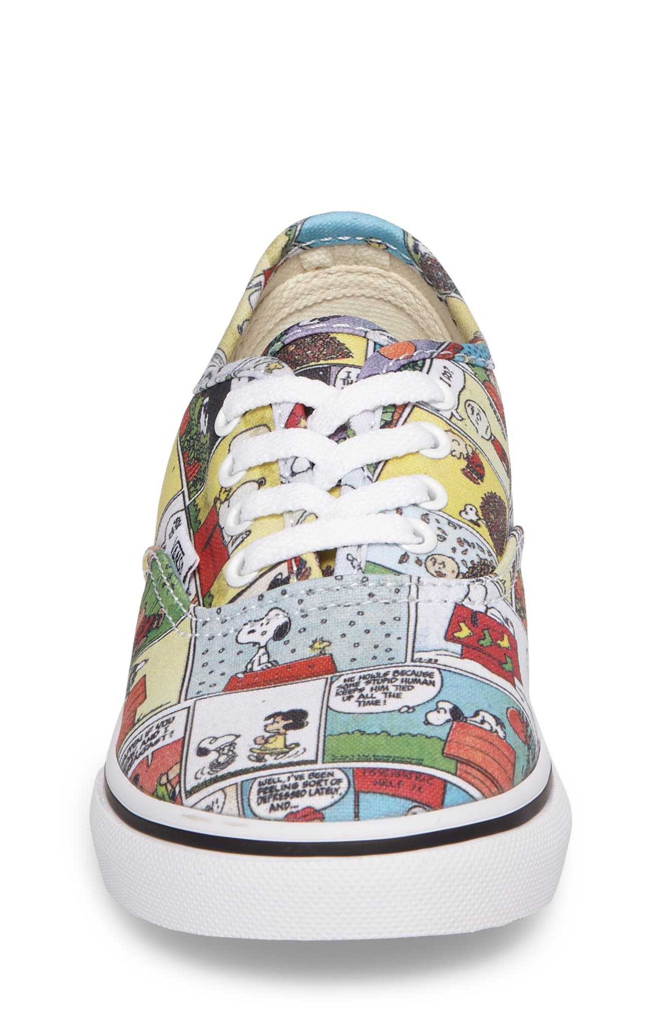 x Peanuts Authentic Low Top Sneaker,                             Alternate thumbnail 4, color,                             001