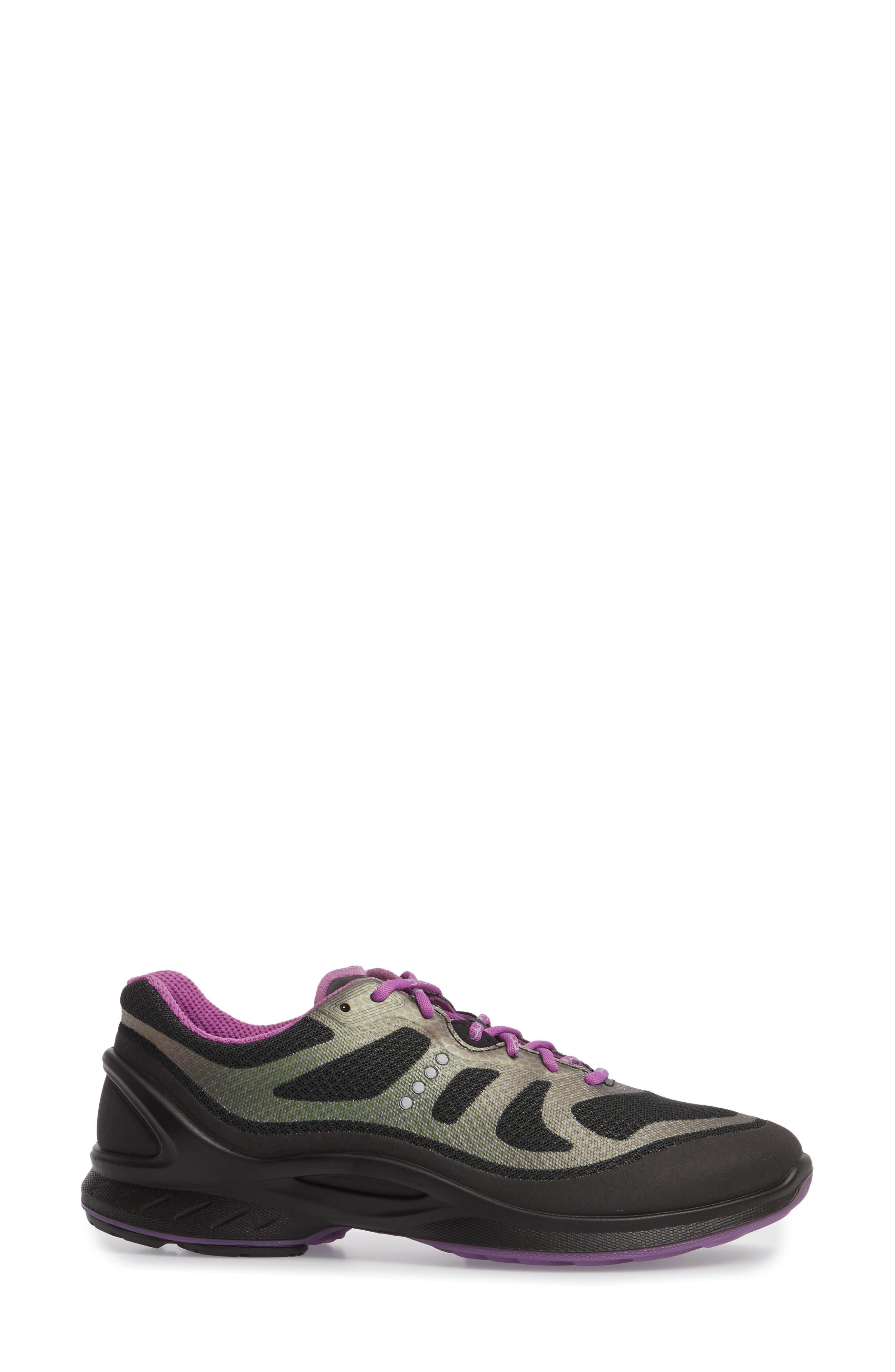 BIOM Fjuel Tie Sneaker,                             Alternate thumbnail 3, color,                             BLACK FABRIC