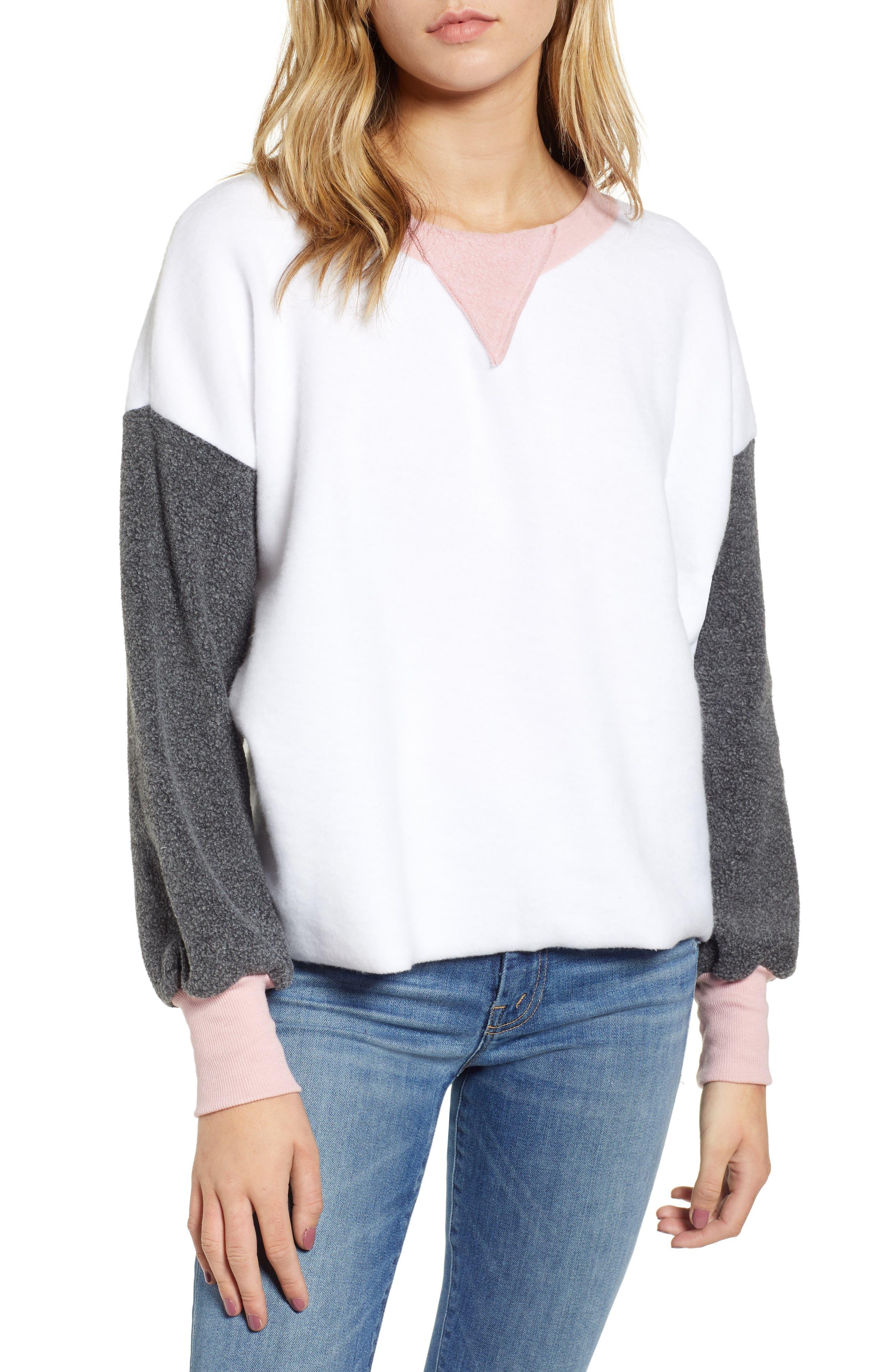 True Love Sweatshirt,                         Main,                         color, CLEAN WHITE MULTI