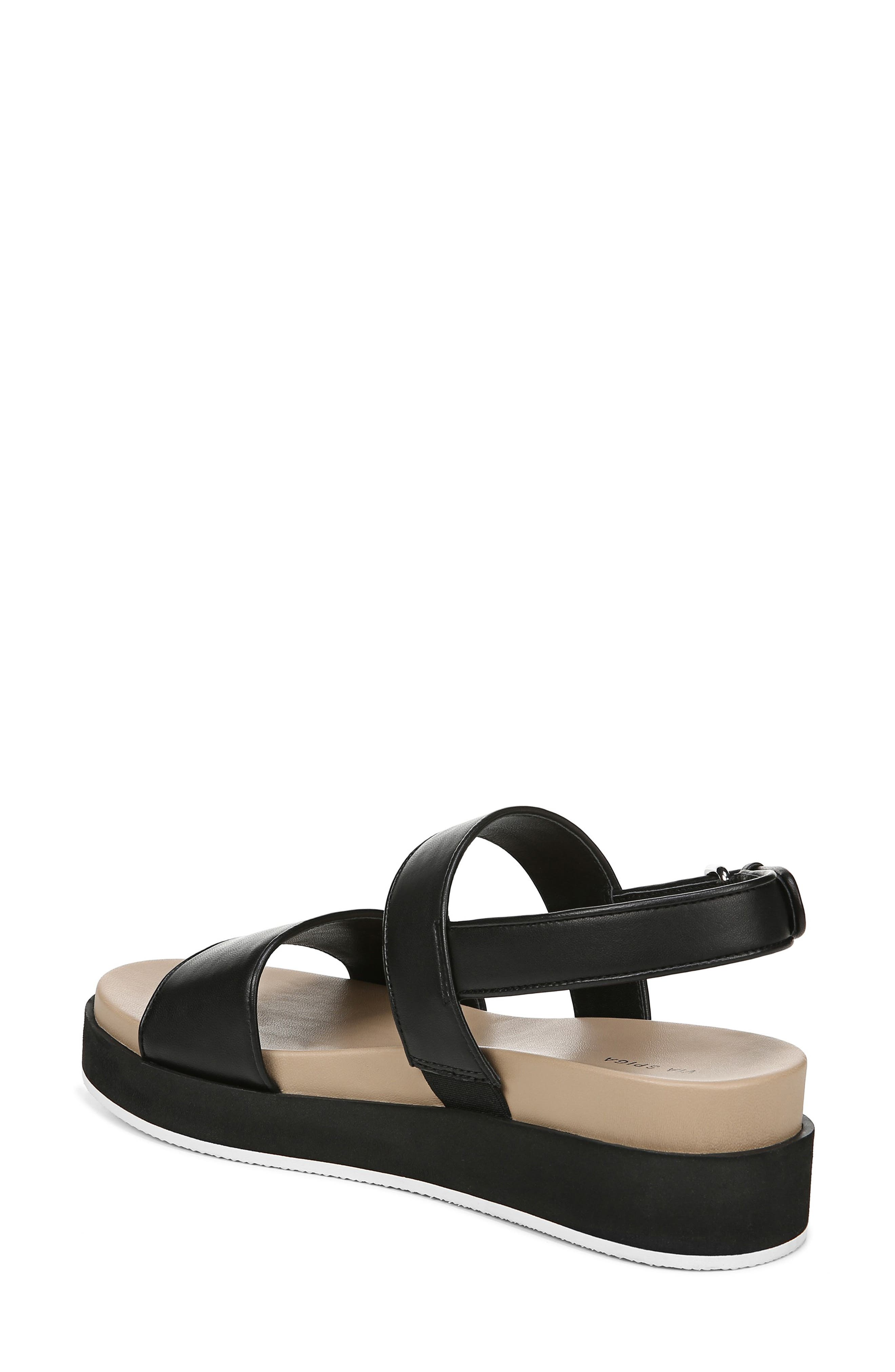 VIA SPIGA,                             Davi Platform Sandal,                             Alternate thumbnail 2, color,                             BLACK