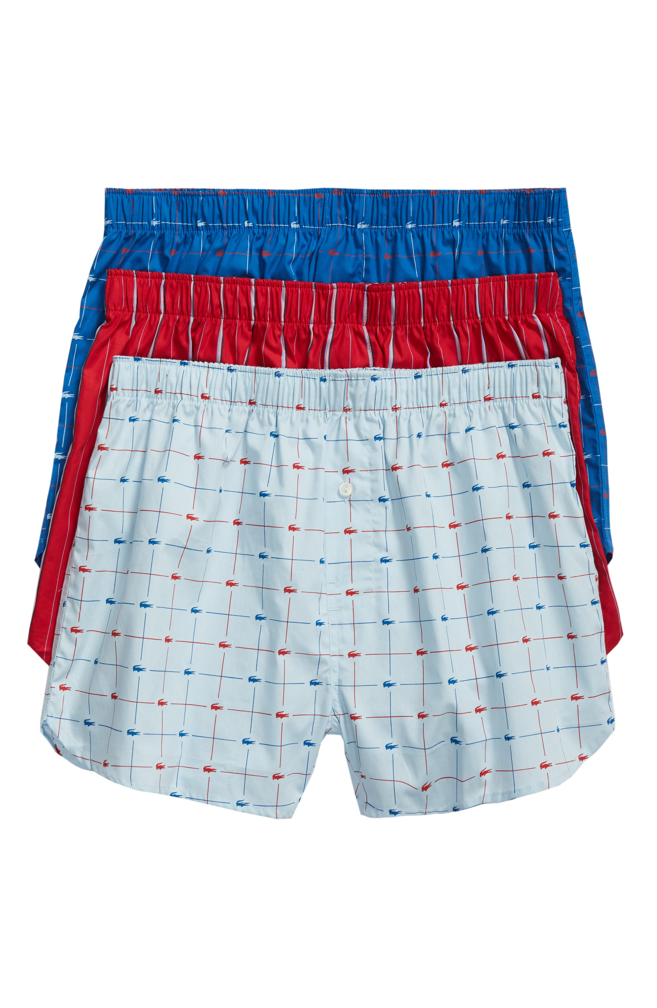 3-Pack Cotton Boxers,                         Main,                         color,