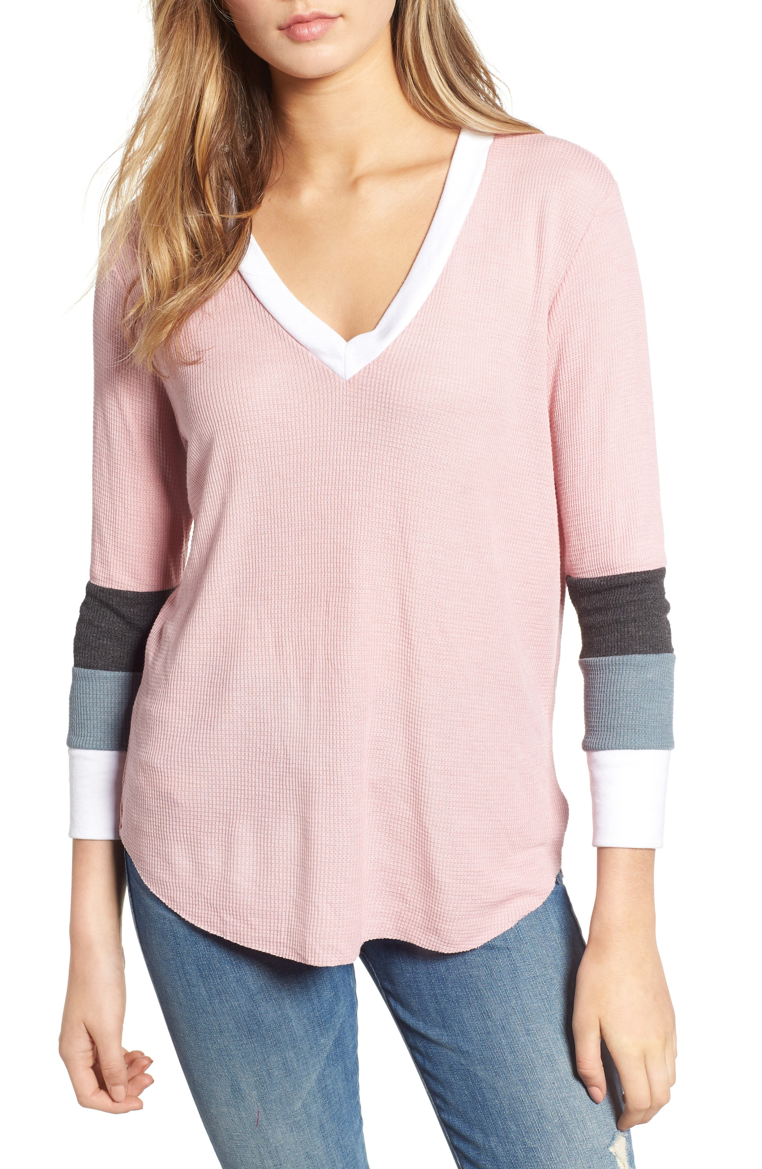 Leroy Colorblock Thermal Tee,                         Main,                         color,