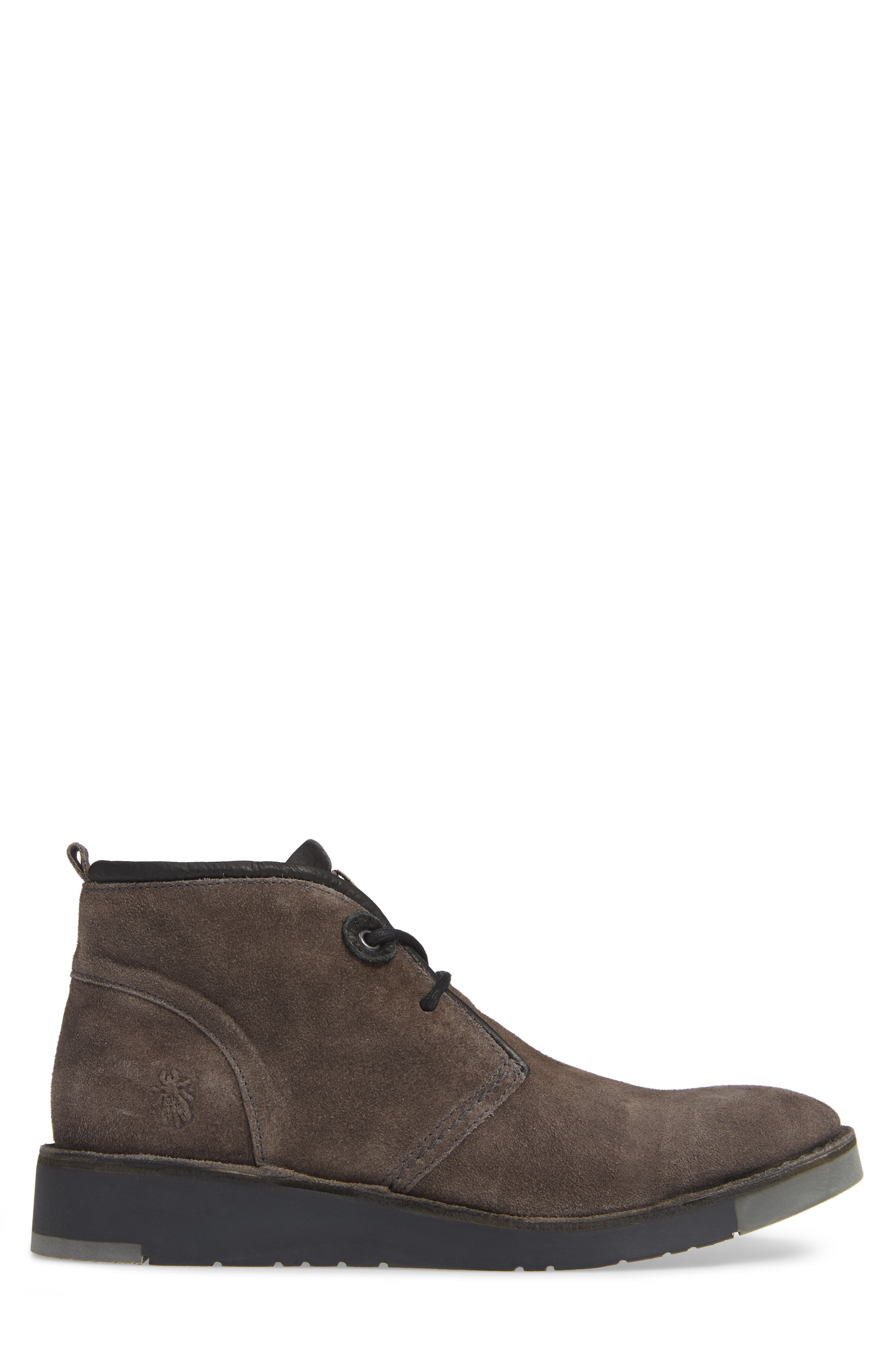 Sion Water Resistant Chukka Boot,                             Alternate thumbnail 3, color,                             GREY OIL SUEDE