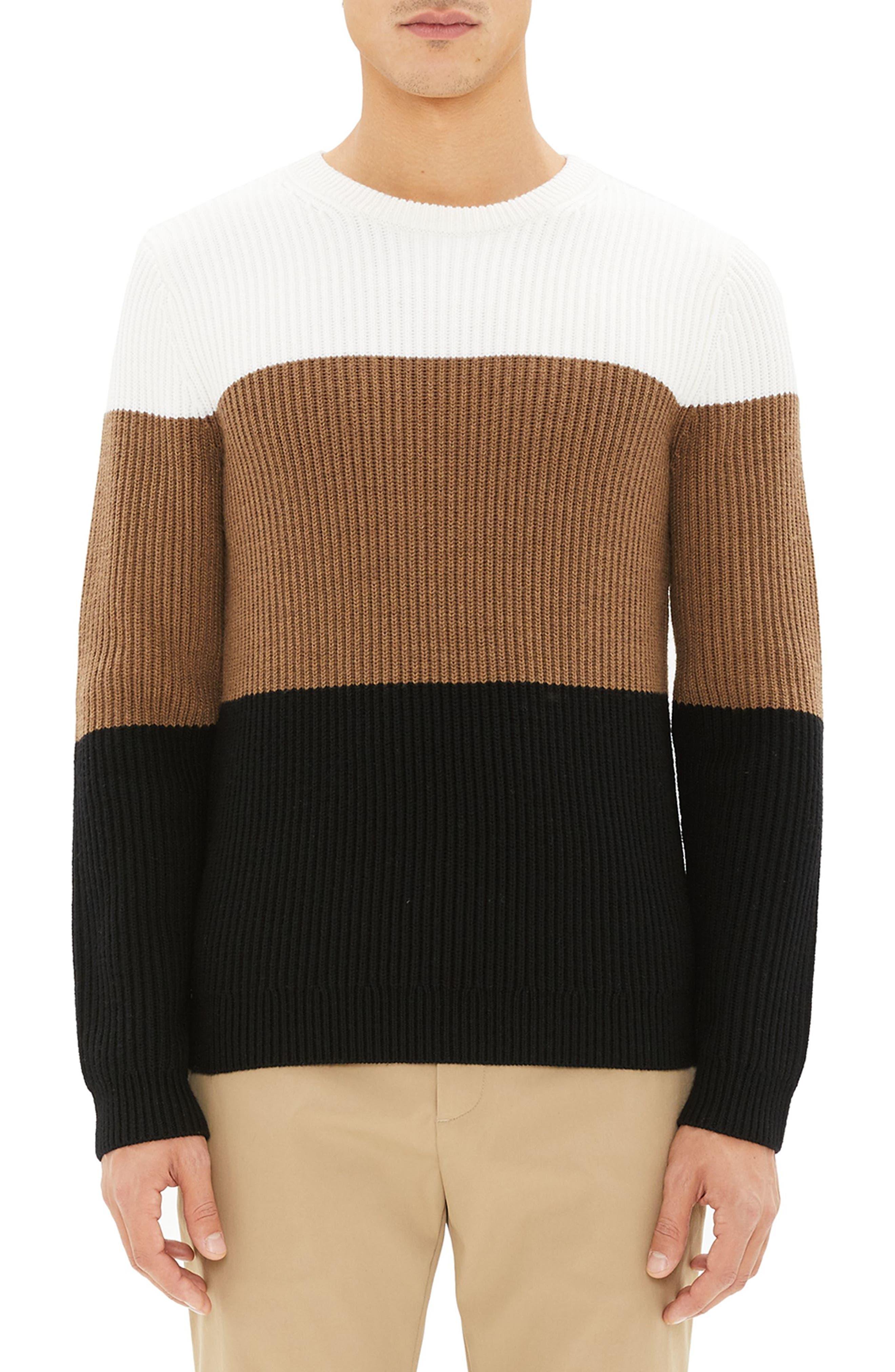 Romman Colorblock Merino Wool Sweater,                             Main thumbnail 1, color,                             110