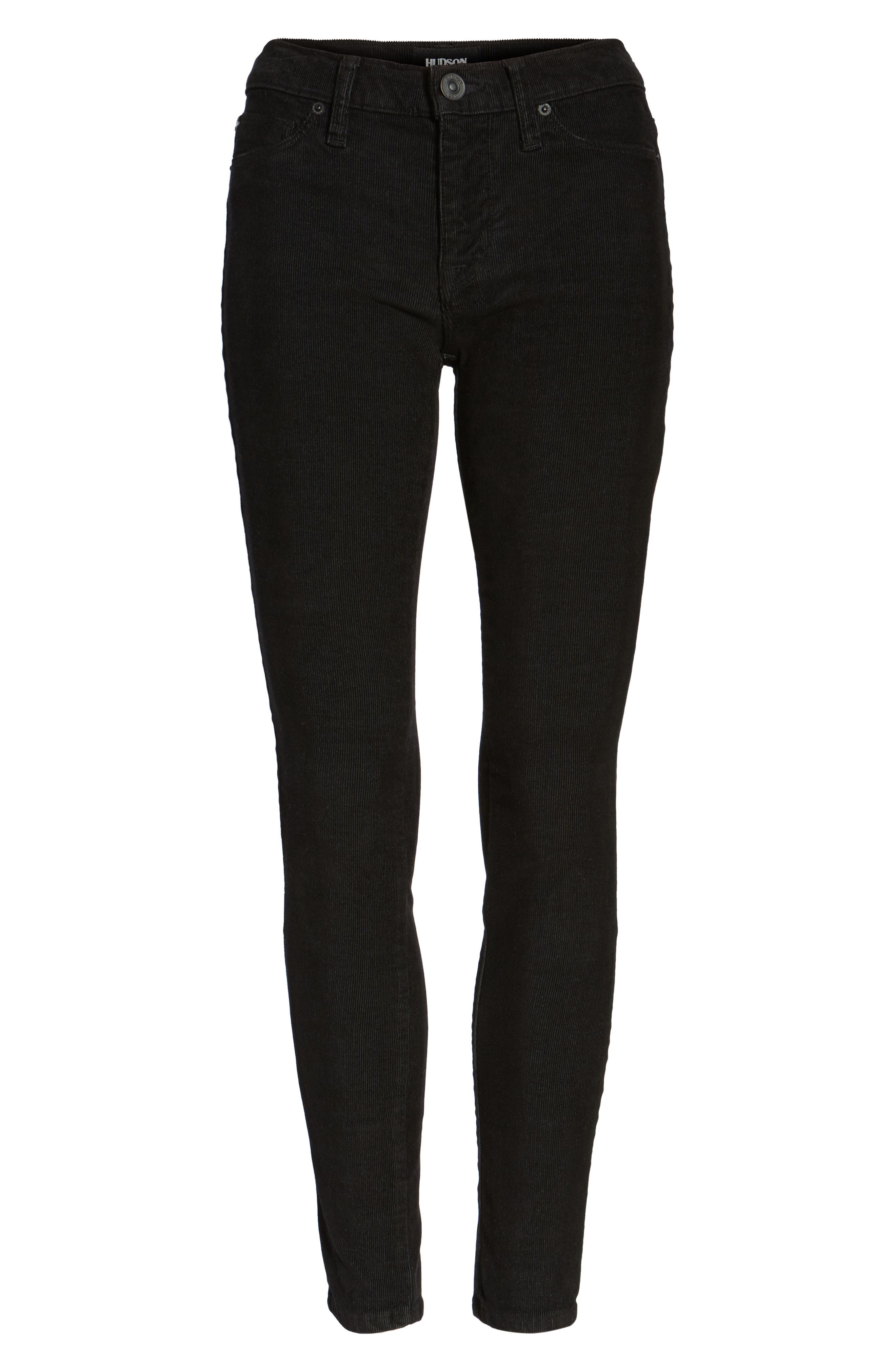 Nico Ankle Super Skinny Corduroy Pants,                             Alternate thumbnail 6, color,                             001