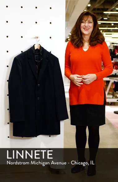 Kingman Modern Fit Wool Blend Coat with Removable Zipper Bib, sales video thumbnail