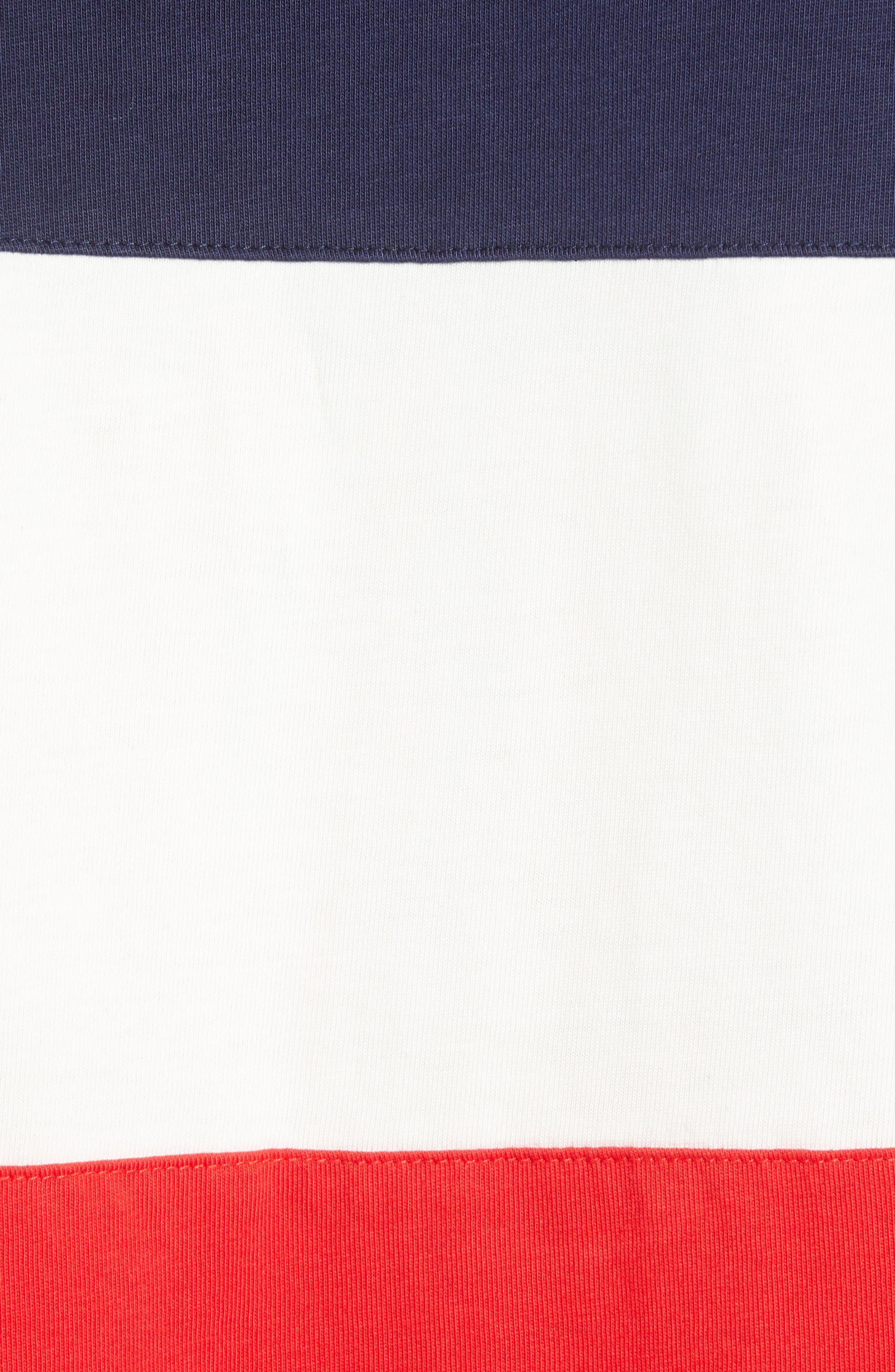 Colorblock Vintage T-Shirt,                             Alternate thumbnail 5, color,                             PEACOAT MARSHMALLOW