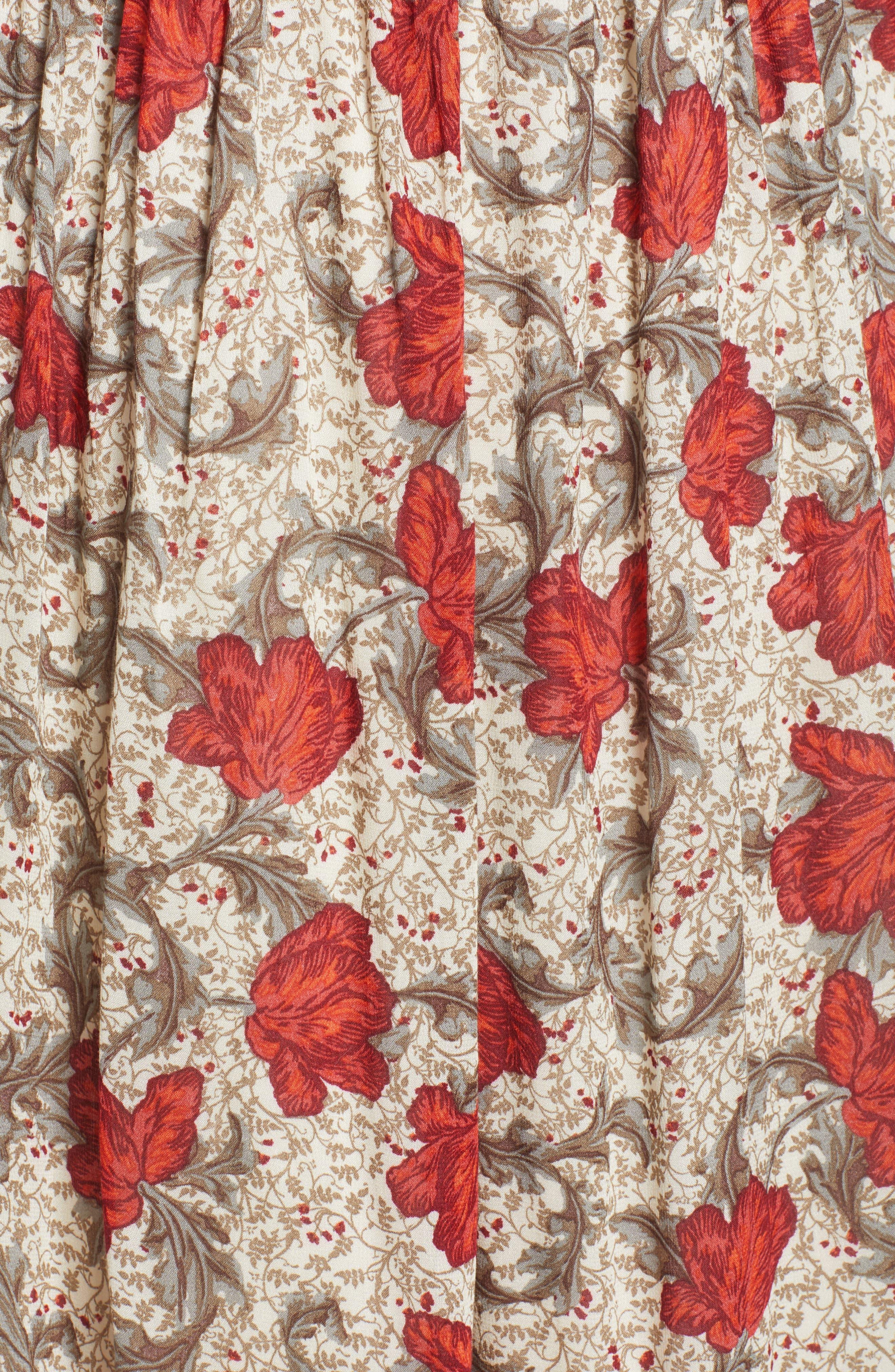 Smocked Back Cold Shoulder Dress,                             Alternate thumbnail 5, color,                             250
