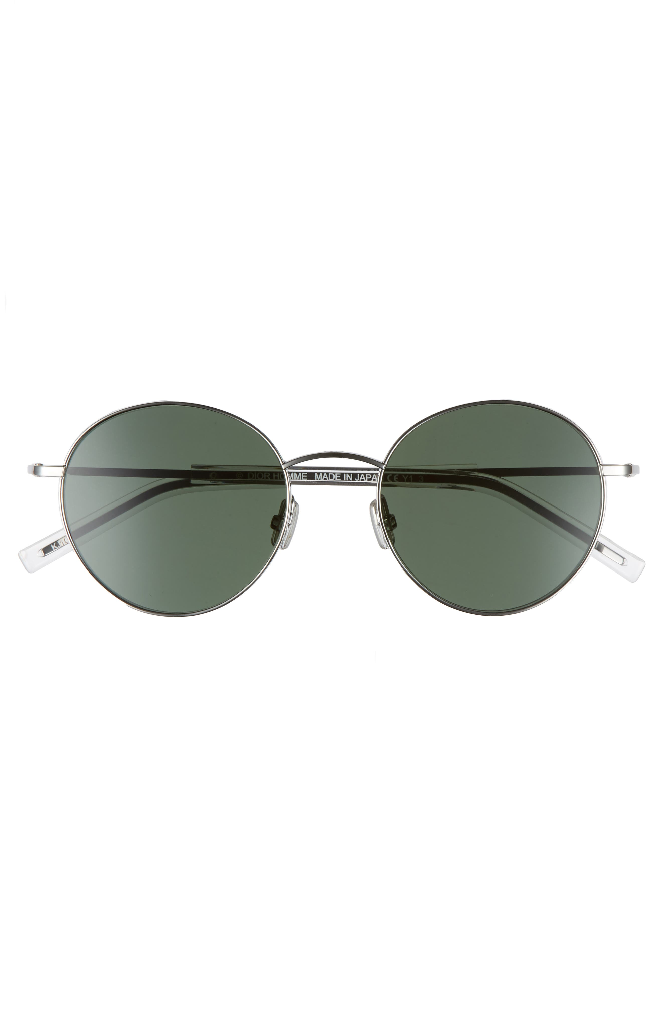 Edgy 52mm Sunglasses,                             Alternate thumbnail 2, color,                             DARK RUTHENIUM