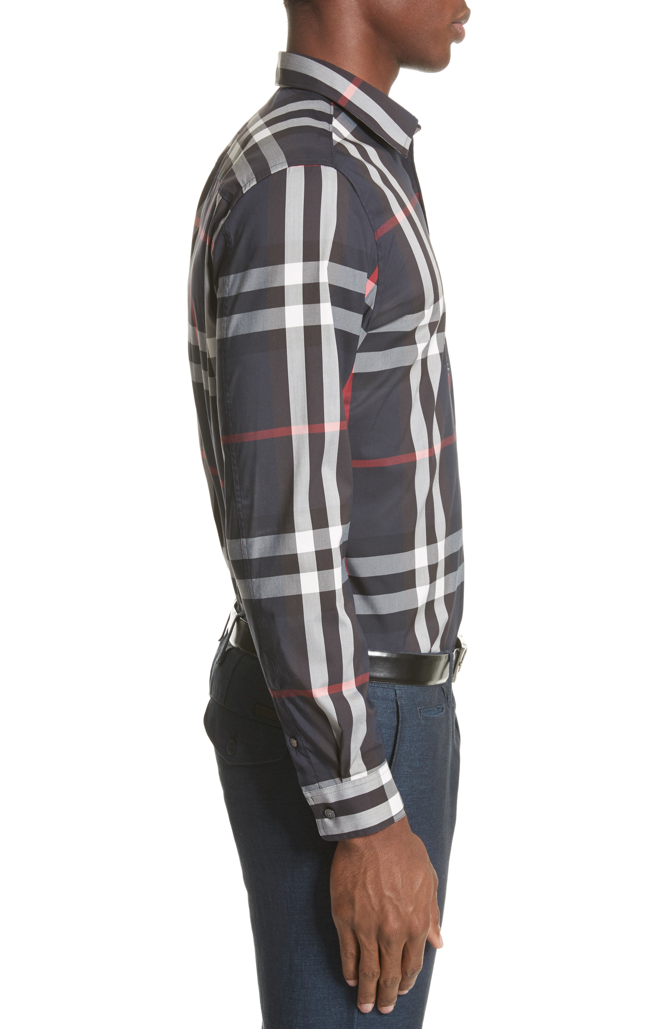 Nelson Check Sport Shirt,                             Alternate thumbnail 86, color,