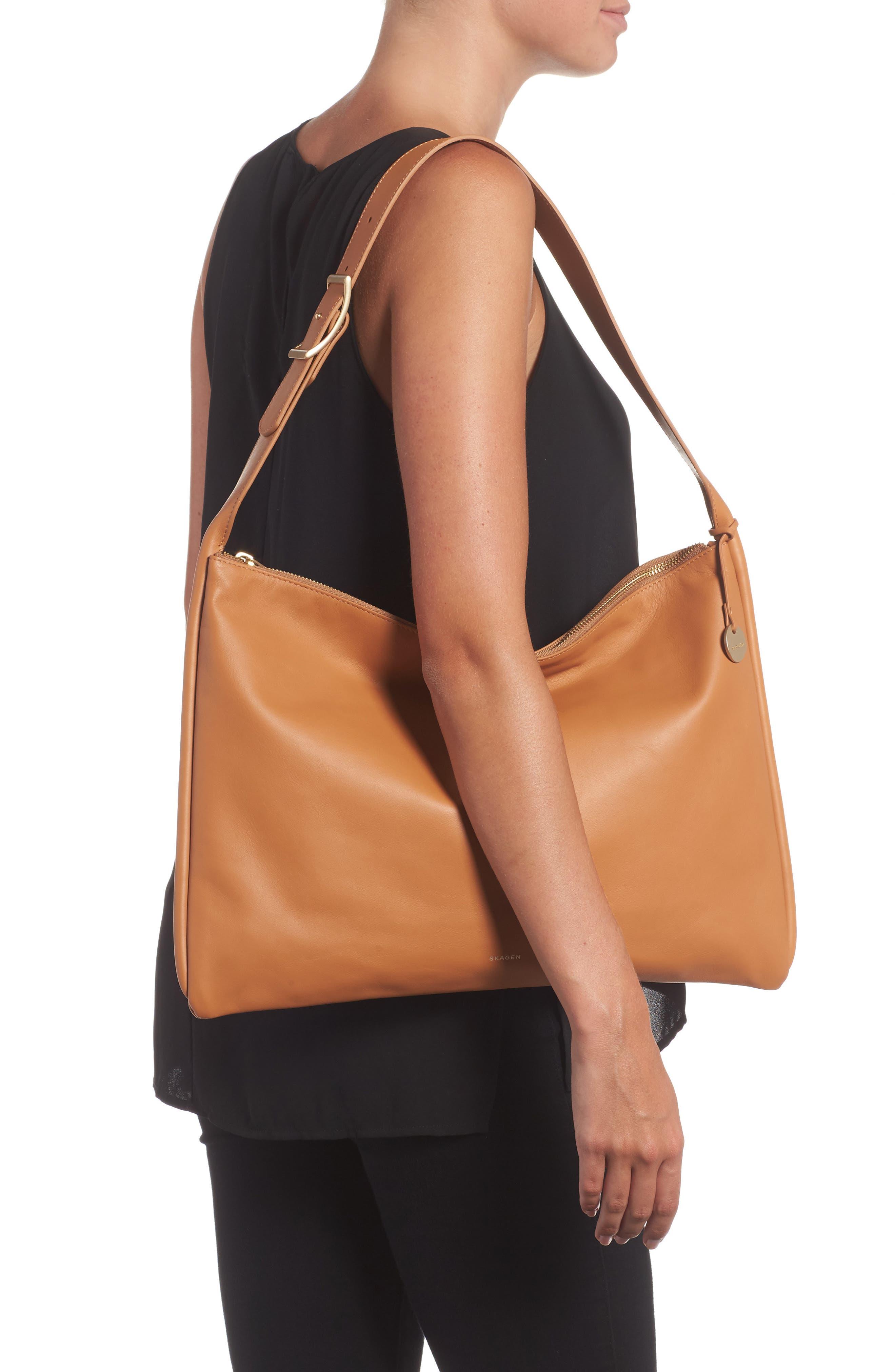 Anesa Leather Shoulder Bag,                             Alternate thumbnail 4, color,
